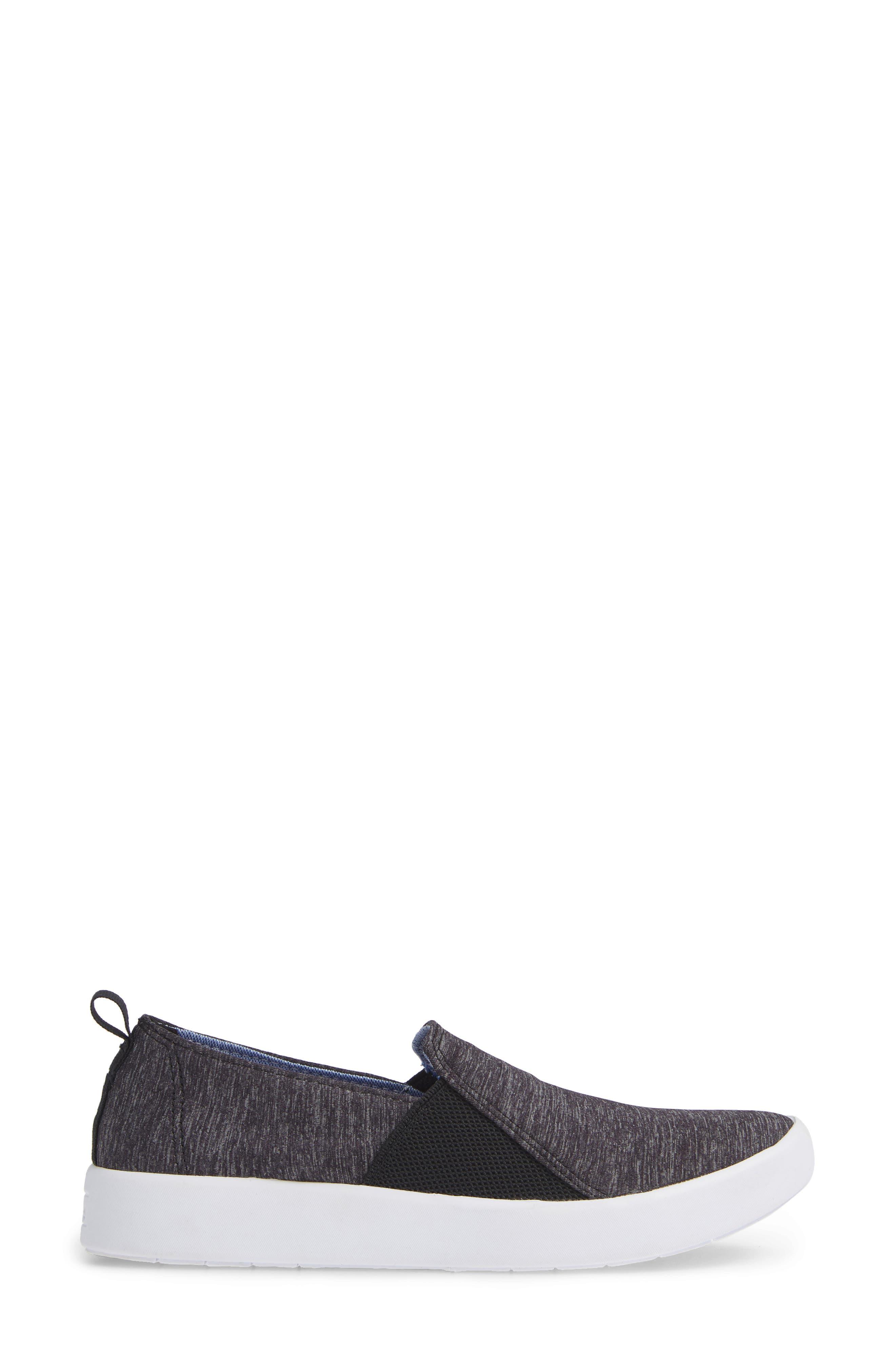 KEDS<SUP>®</SUP>, Studio Liv Active Knit Sneaker, Alternate thumbnail 3, color, BLACK