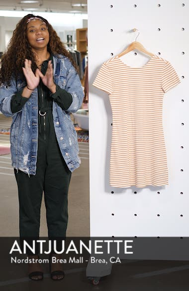 Looking Out Stripe T-Shirt Dress, sales video thumbnail