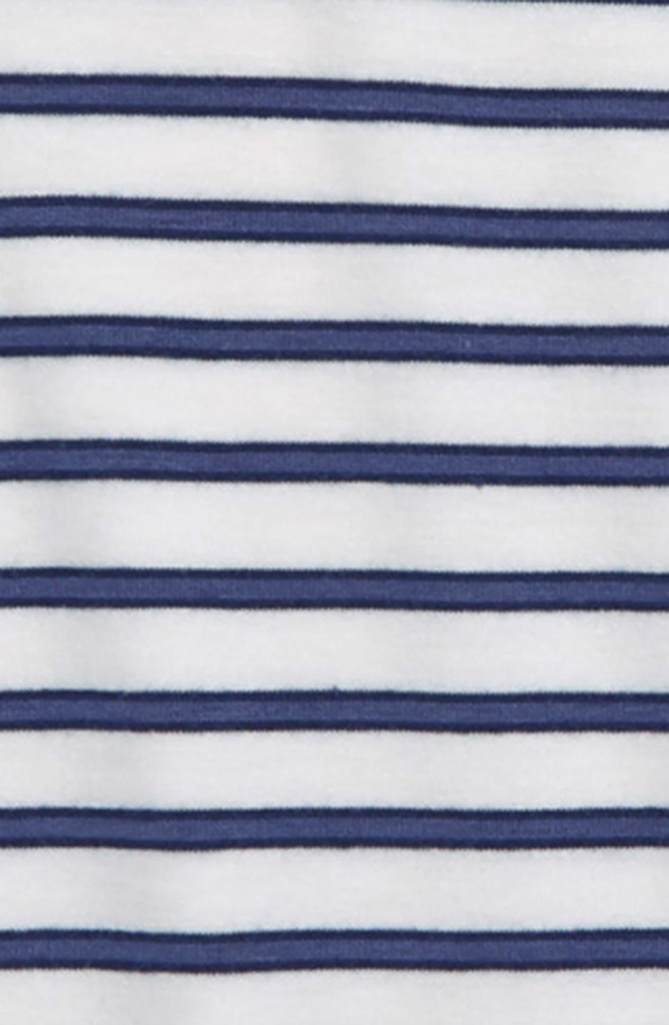 TEN SIXTY SHERMAN, Stripe Tee, Alternate thumbnail 2, color, IVORY/ VINTAGE BLUE
