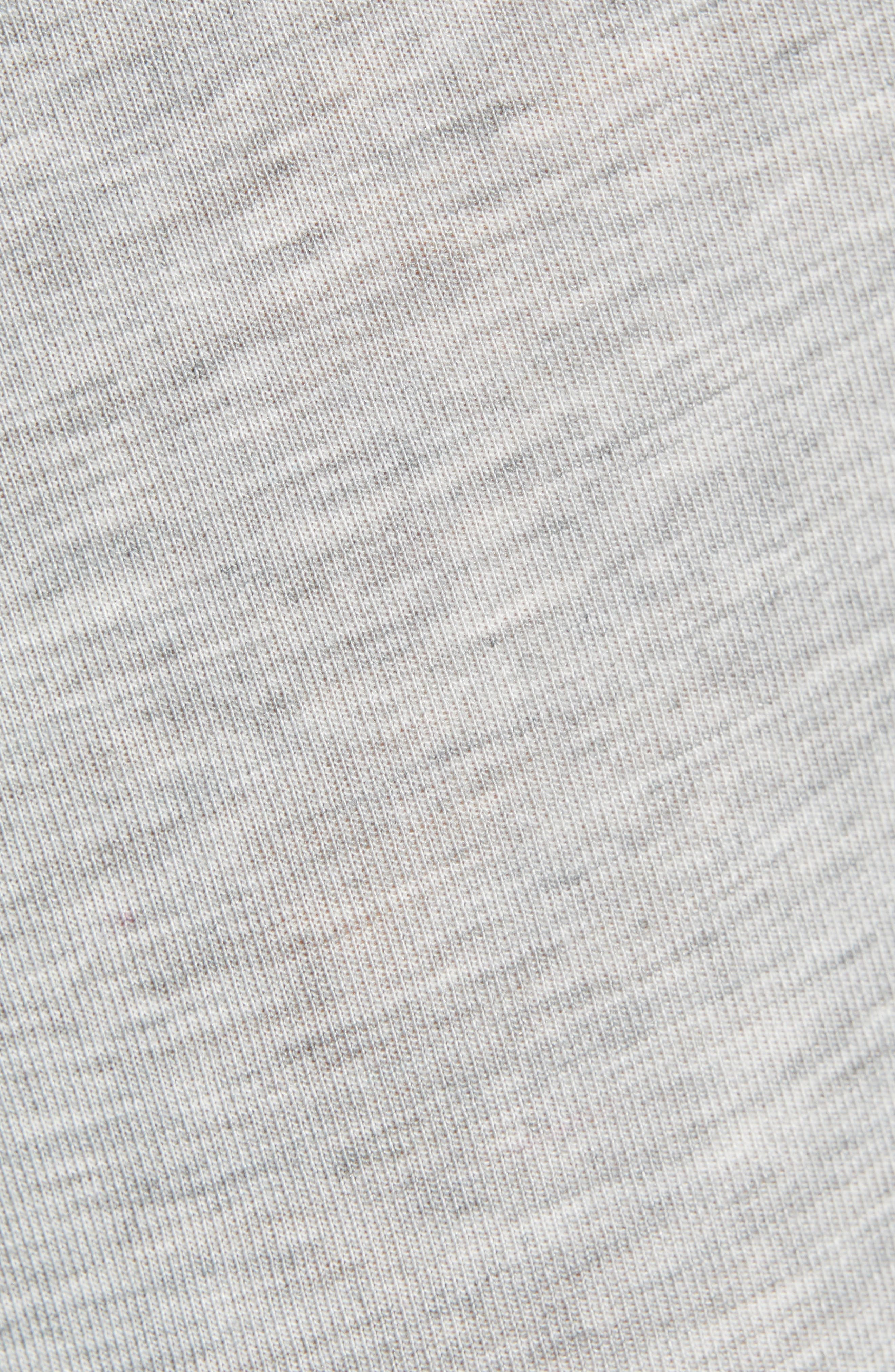 CALVIN KLEIN, Ultrasoft Stretch Modal Trunks, Alternate thumbnail 5, color, GREY HEATHER/ WHITE