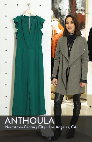 Ruffle Wide Leg Crop Jumpsuit, sales video thumbnail