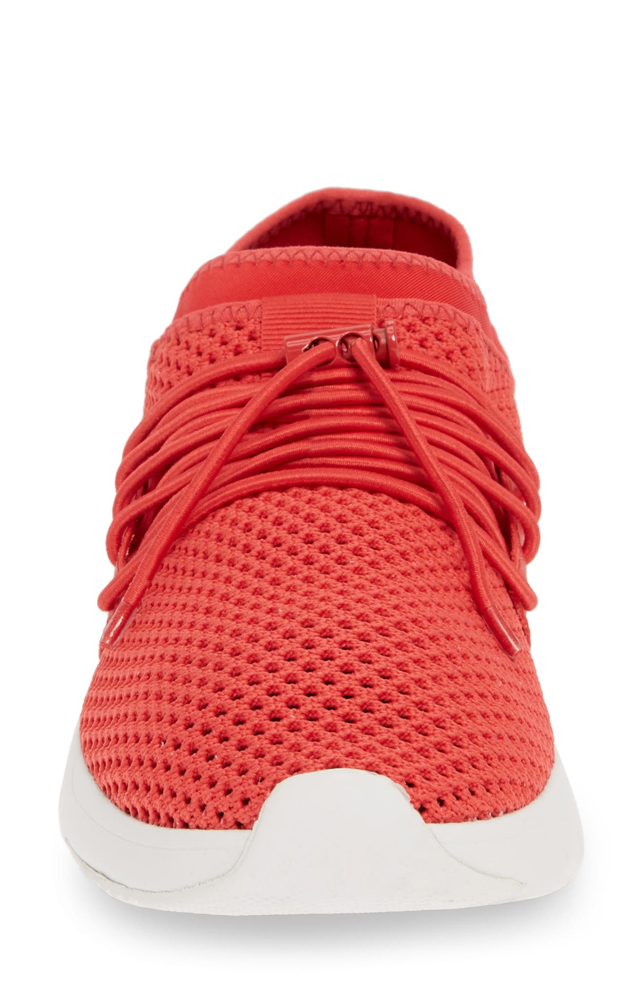 FITFLOP, Airmesh Sneaker, Alternate thumbnail 4, color, PASSION RED