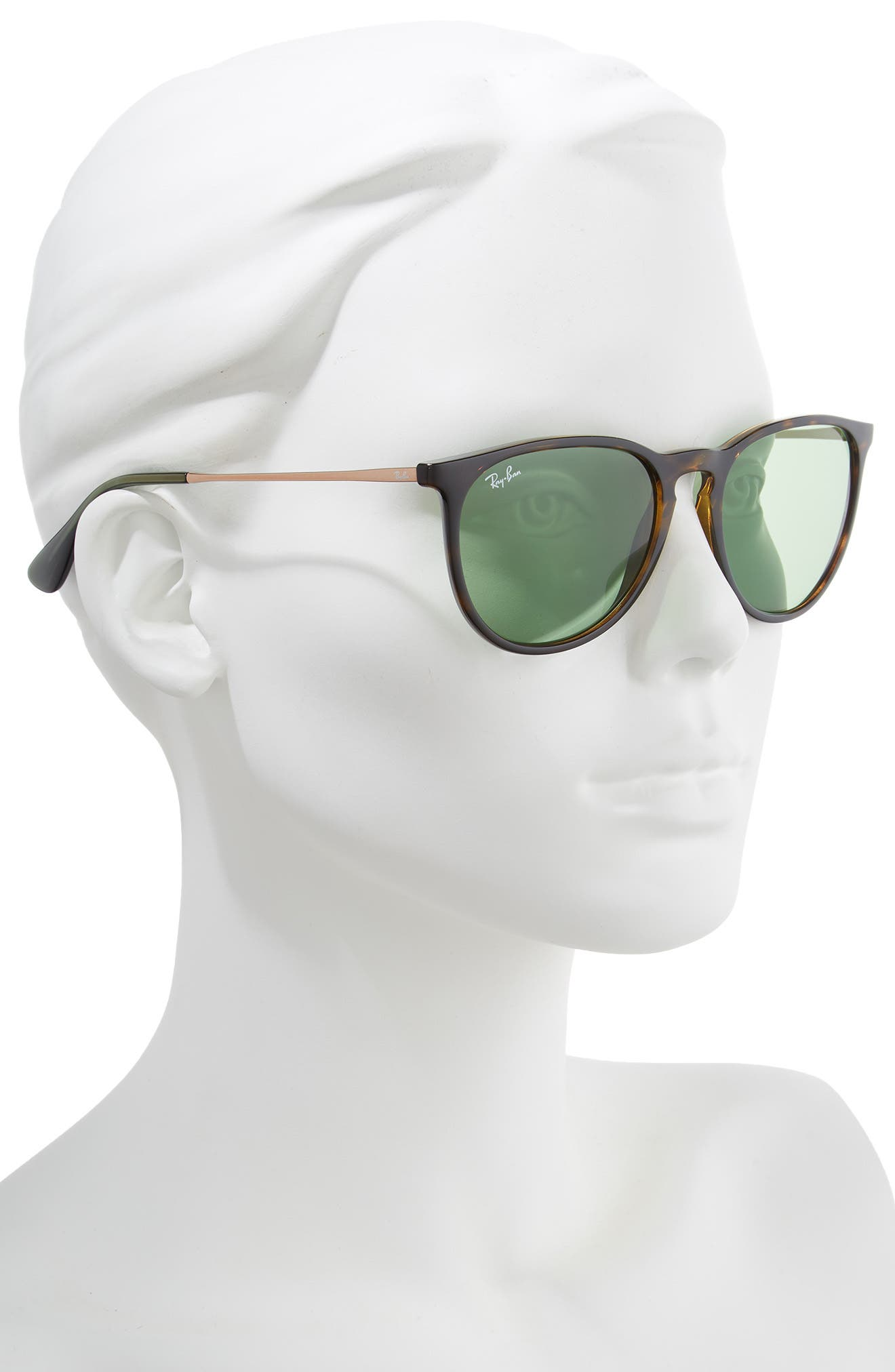 RAY-BAN, Erika Classic 54mm Sunglasses, Alternate thumbnail 2, color, HAVANA/ GREEN SOLID