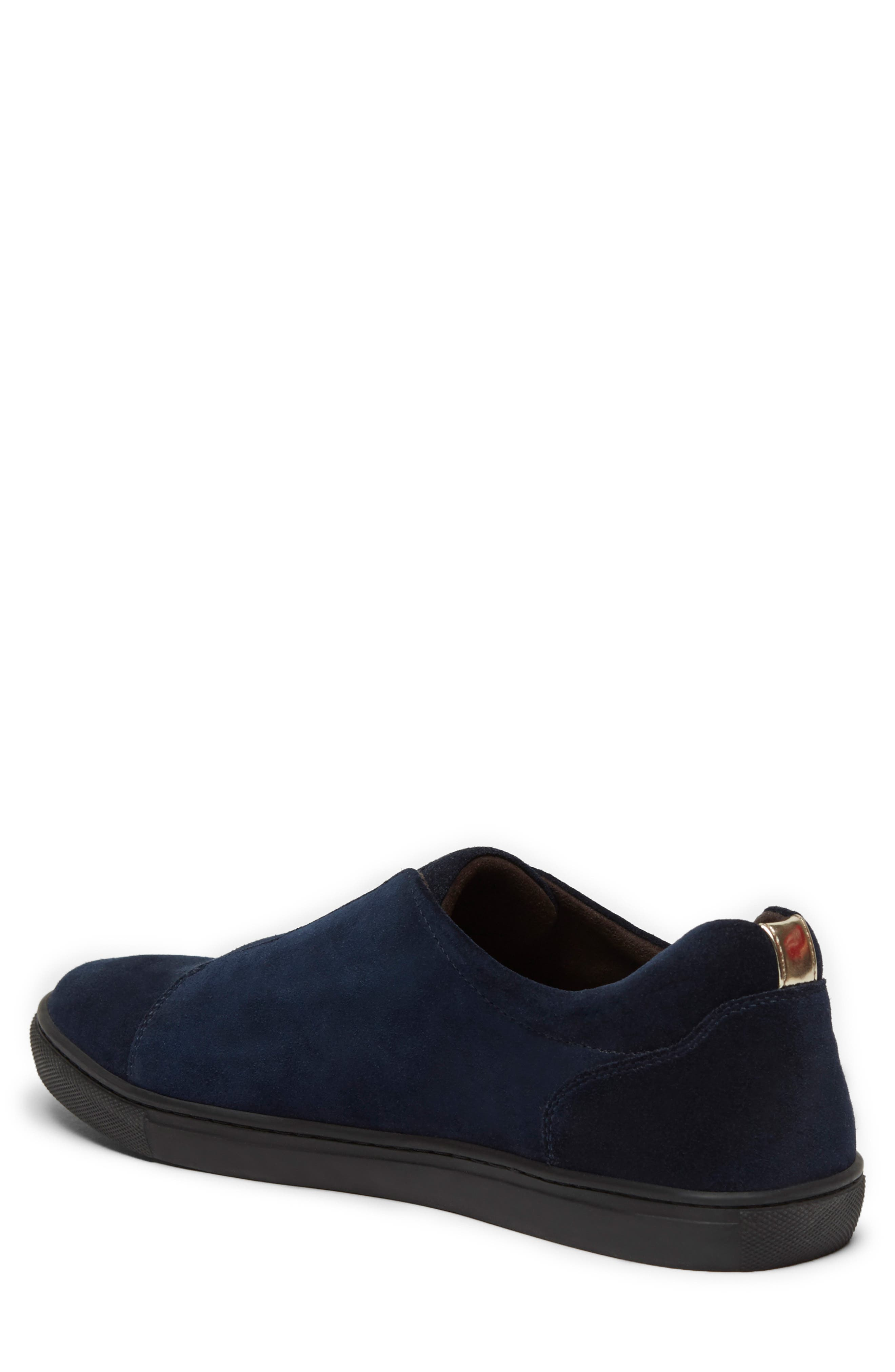 KENNETH COLE NEW YORK, Kam Slip-On, Alternate thumbnail 2, color, NAVY SUEDE