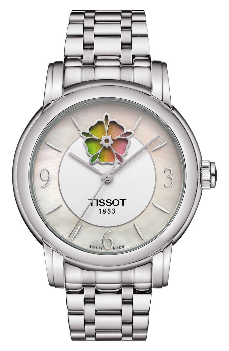 Tissot HEART FLOWER POWERMATIC 80 BRACELET WATCH, 35MM