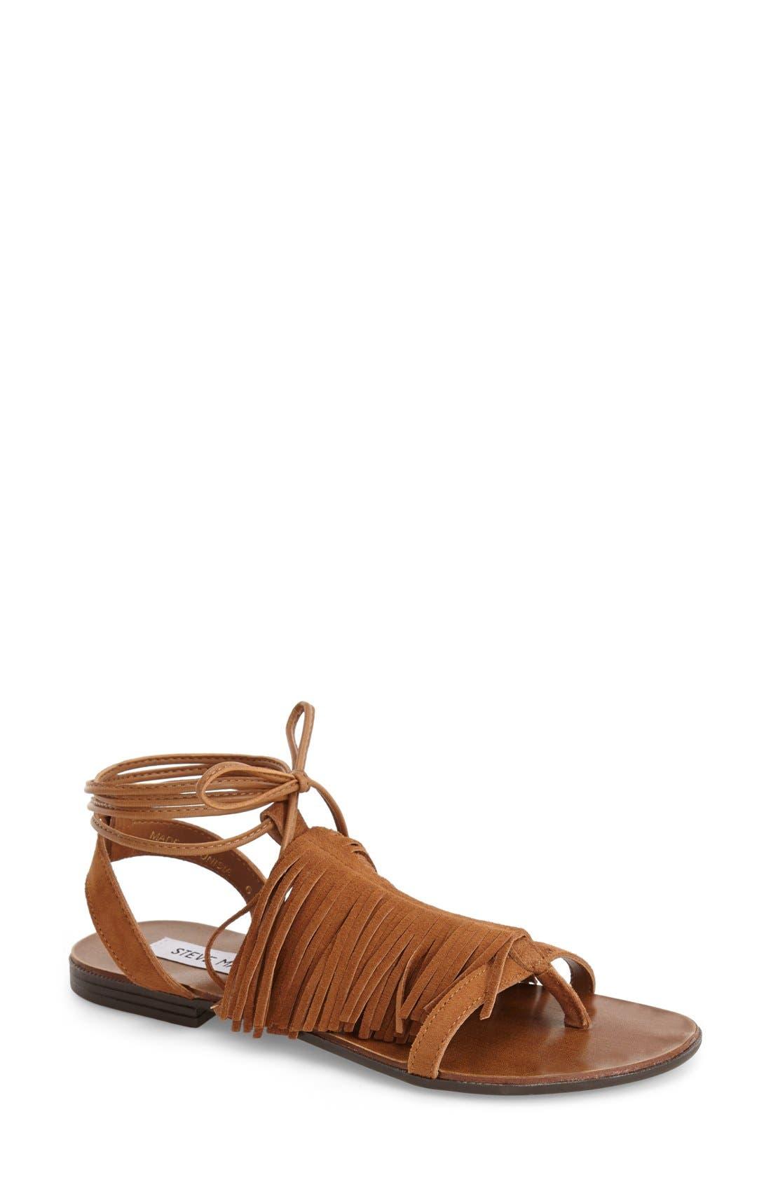 STEVE MADDEN 'Chelssi' Fringe Sandal, Main, color, 200
