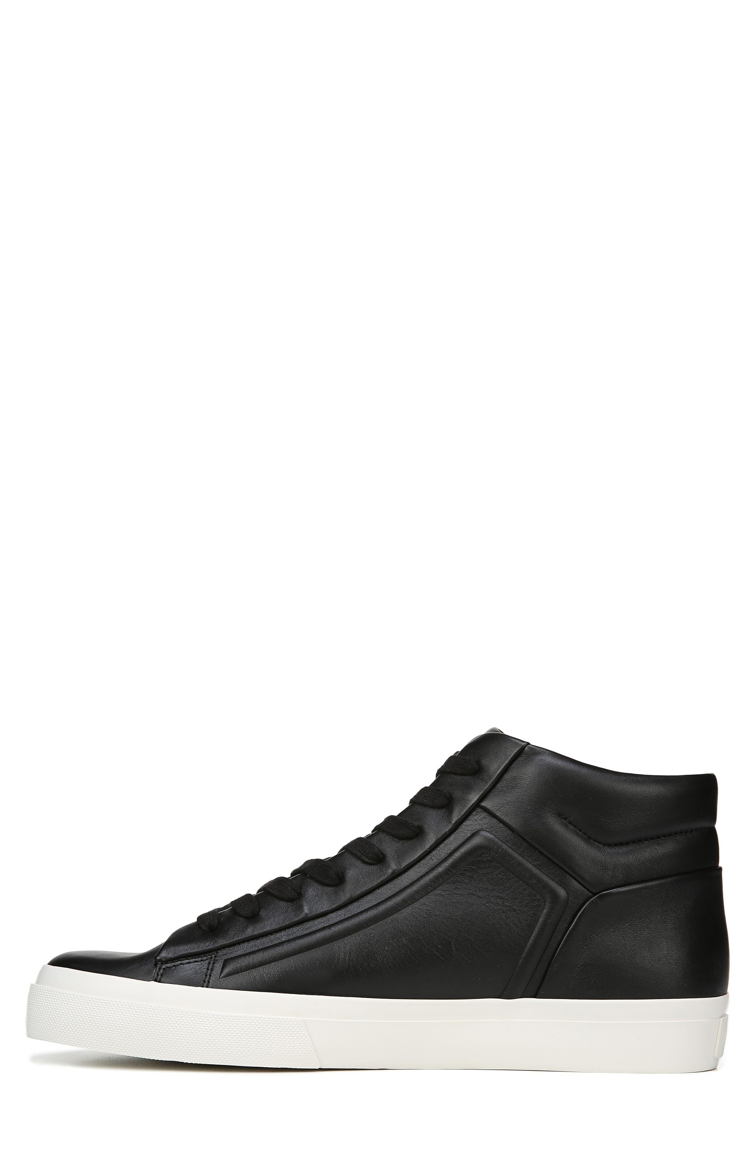 VINCE, Fynn High Top Sneaker, Alternate thumbnail 9, color, BLACK