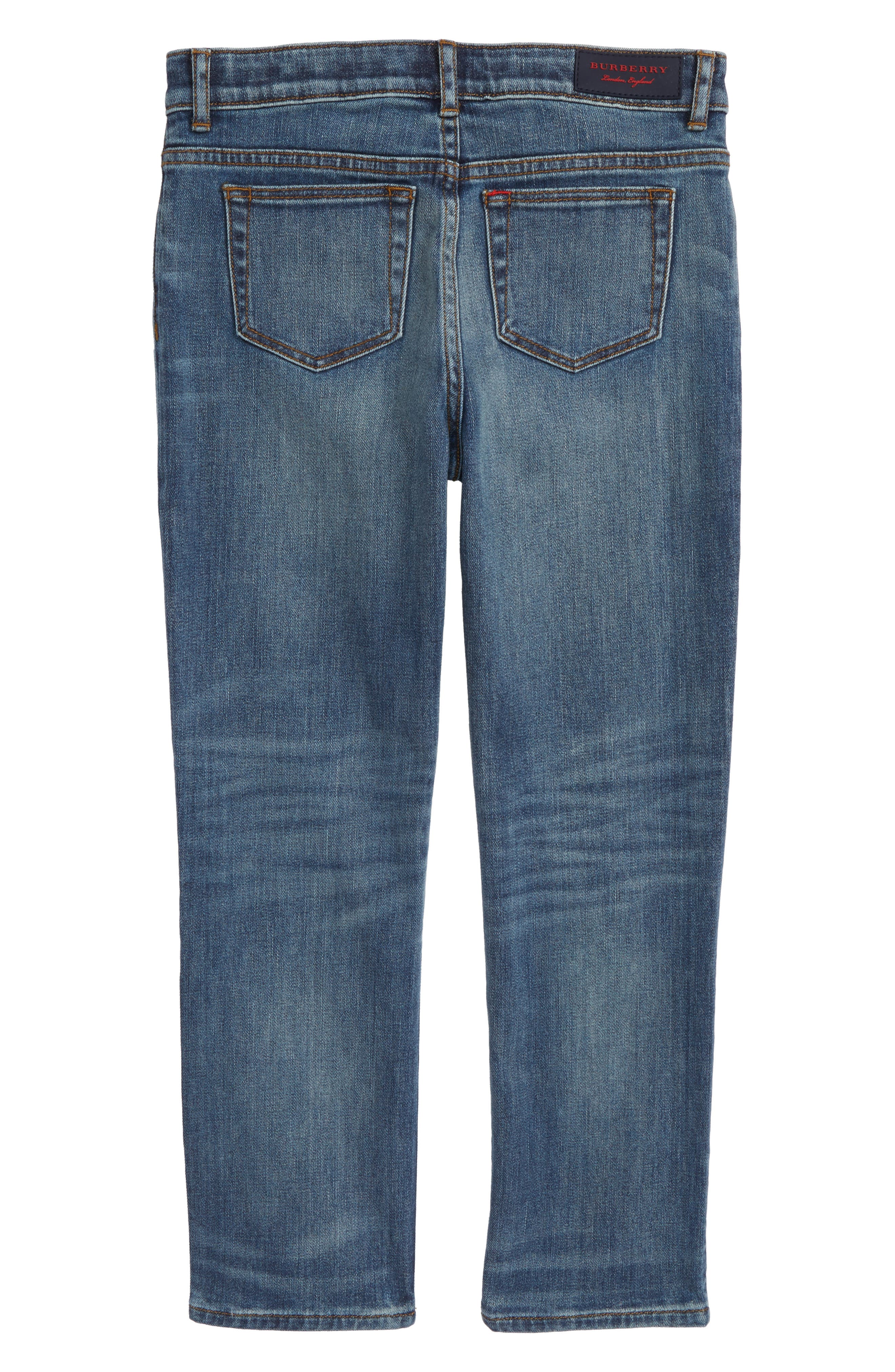 BURBERRY, Relaxed Fit Jeans, Alternate thumbnail 2, color, 412