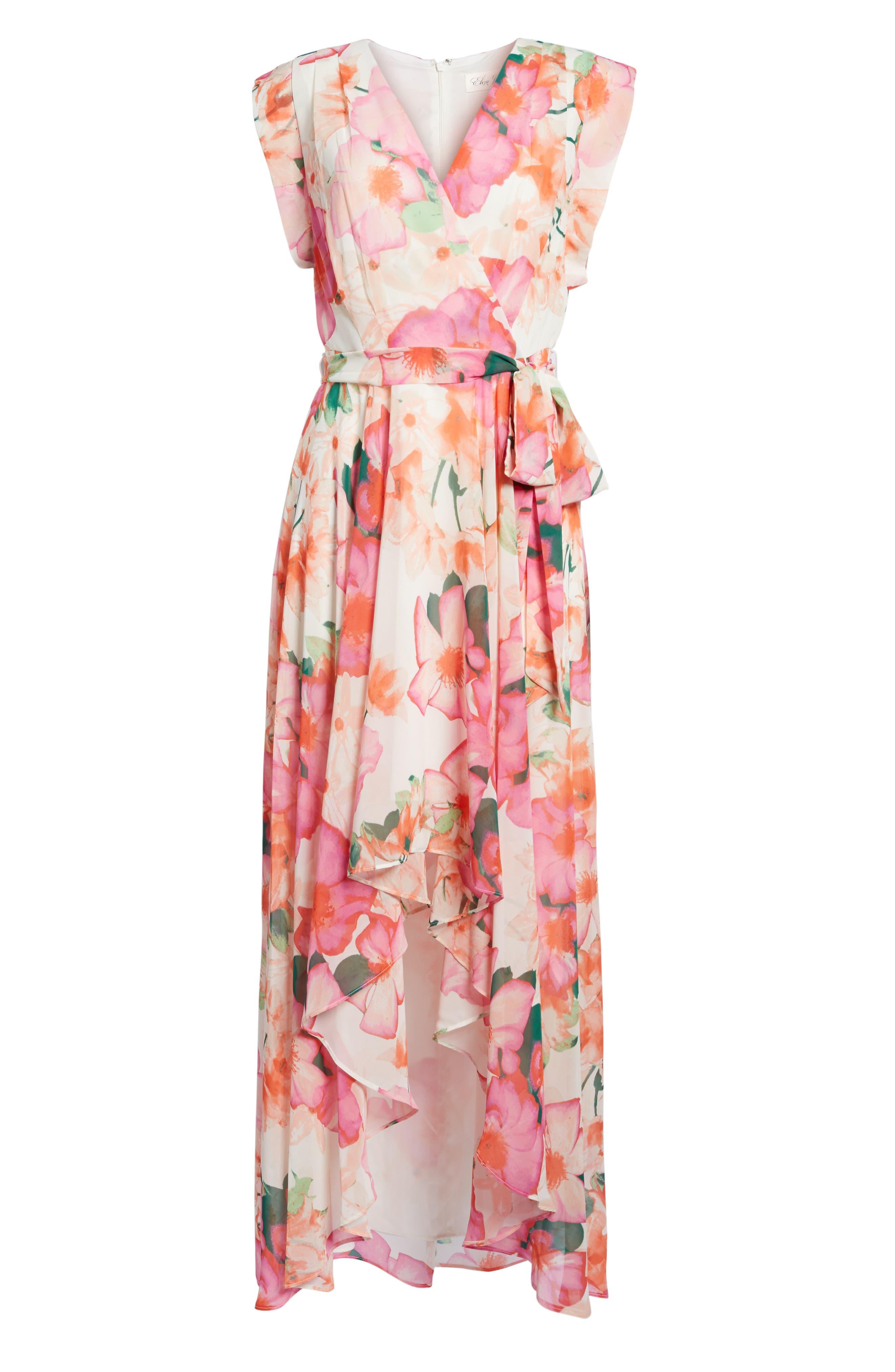 ELIZA J, Floral Print Gown, Alternate thumbnail 2, color, 653