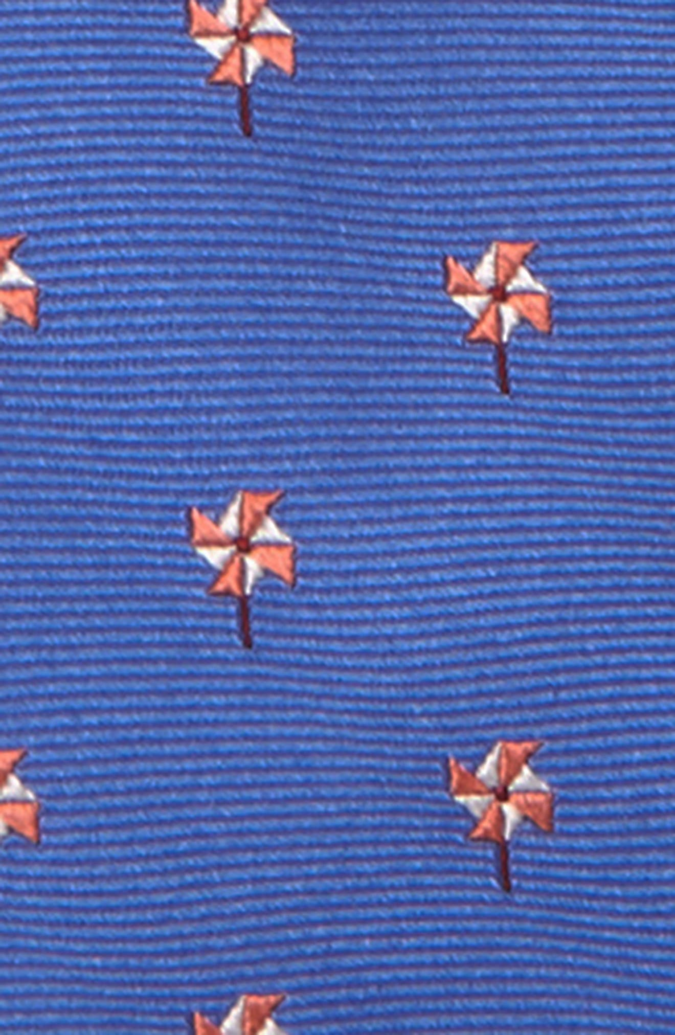 NORDSTROM, Jacob Solid Silk Zipper Tie, Alternate thumbnail 2, color, BLUE