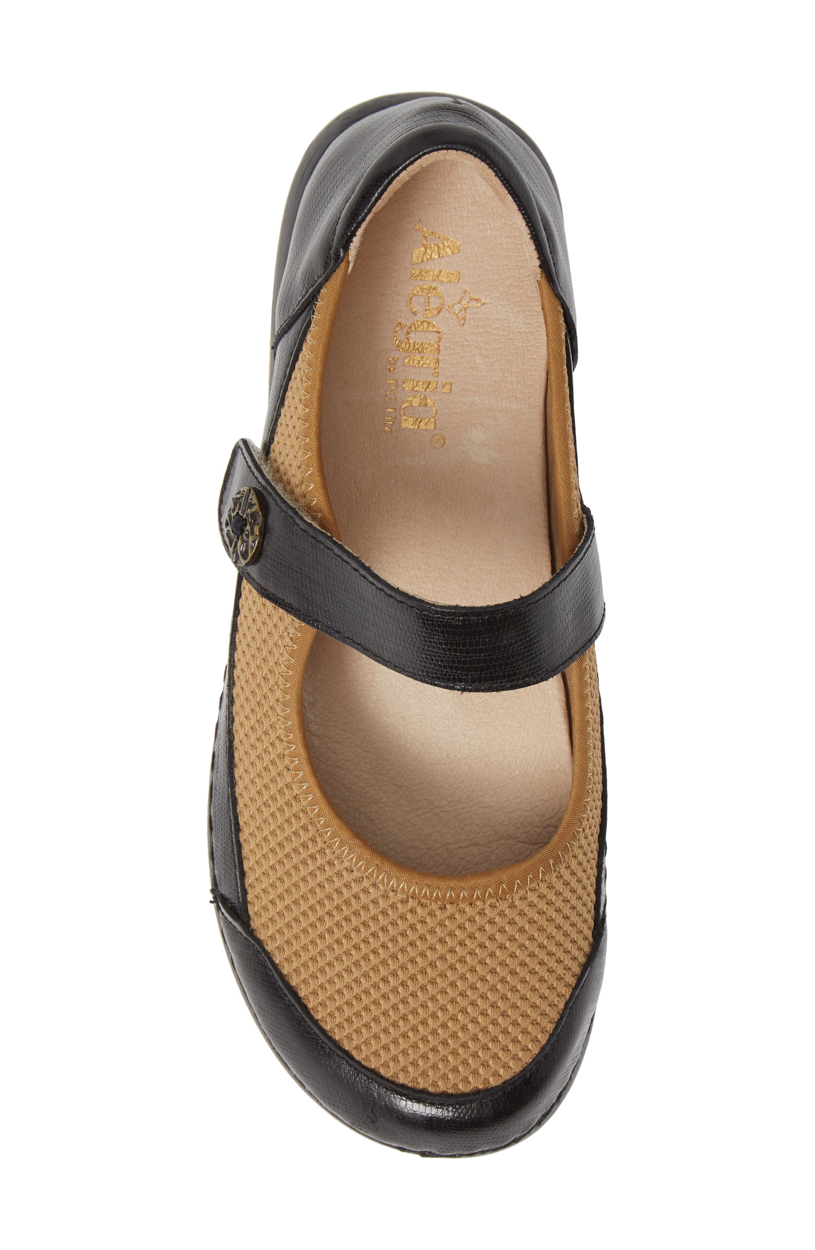 ALEGRIA, Gem Mary Jane Flat, Alternate thumbnail 5, color, TIDAL LEATHER