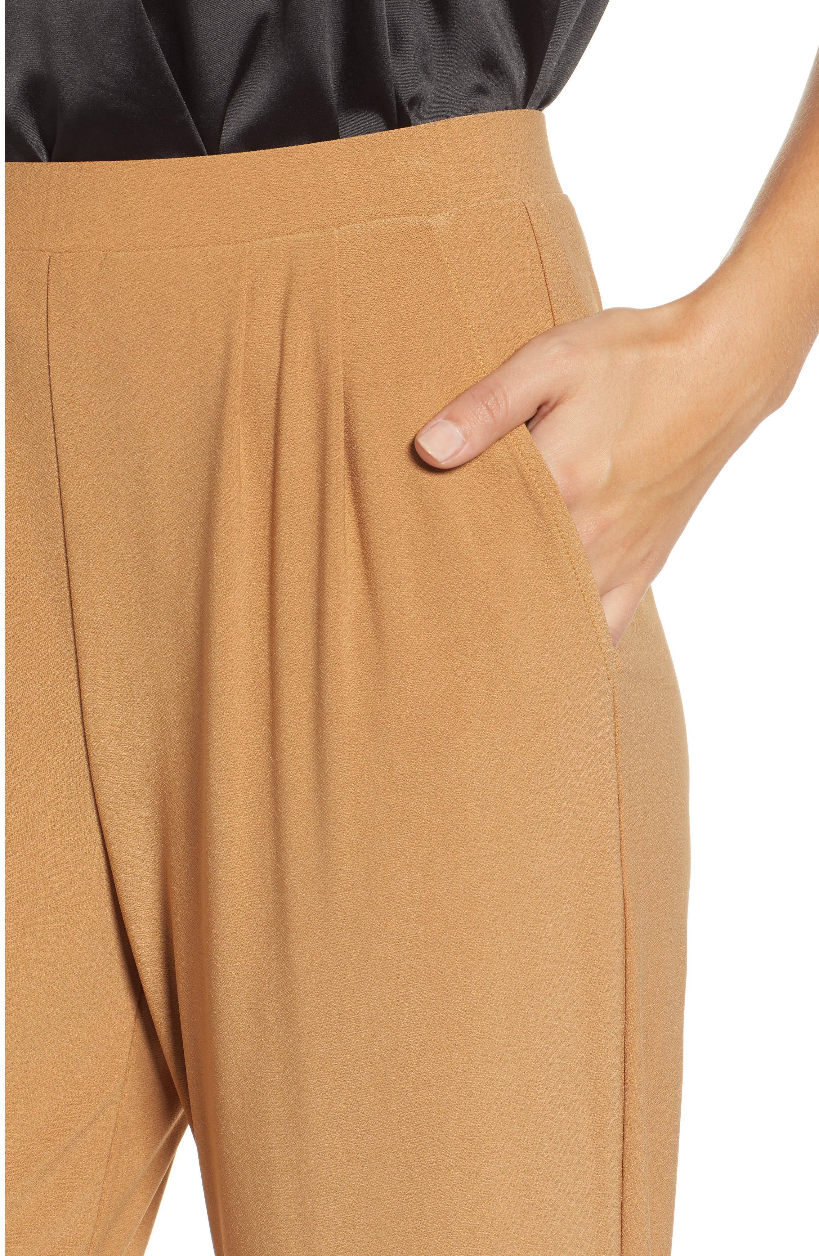 LEITH, Pleat Front Trousers, Alternate thumbnail 5, color, TAN DALE