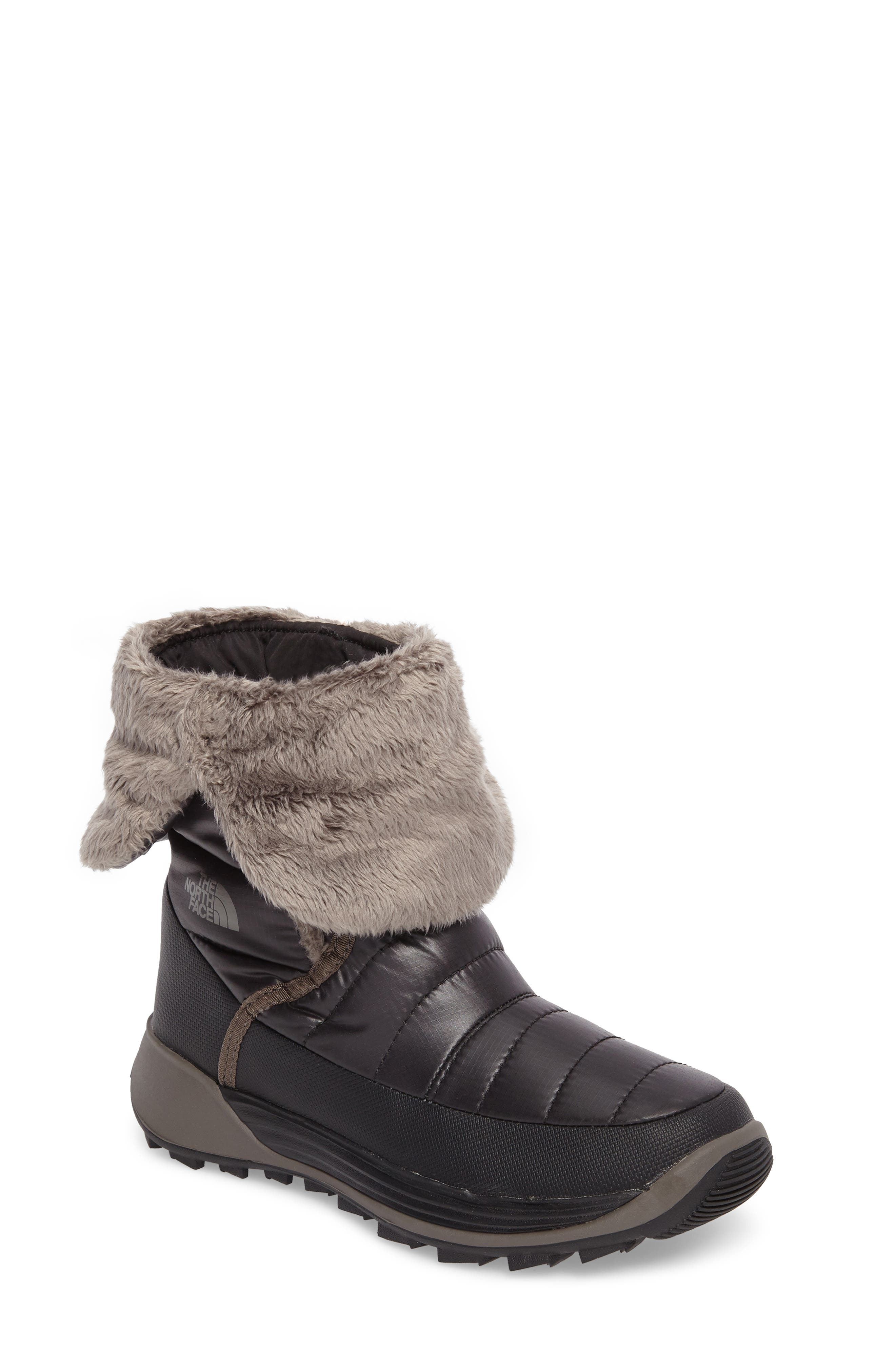 THE NORTH FACE Amore II Water-Resistant Winter Boot, Main, color, TNF BLACK/ DARK GULL GREY