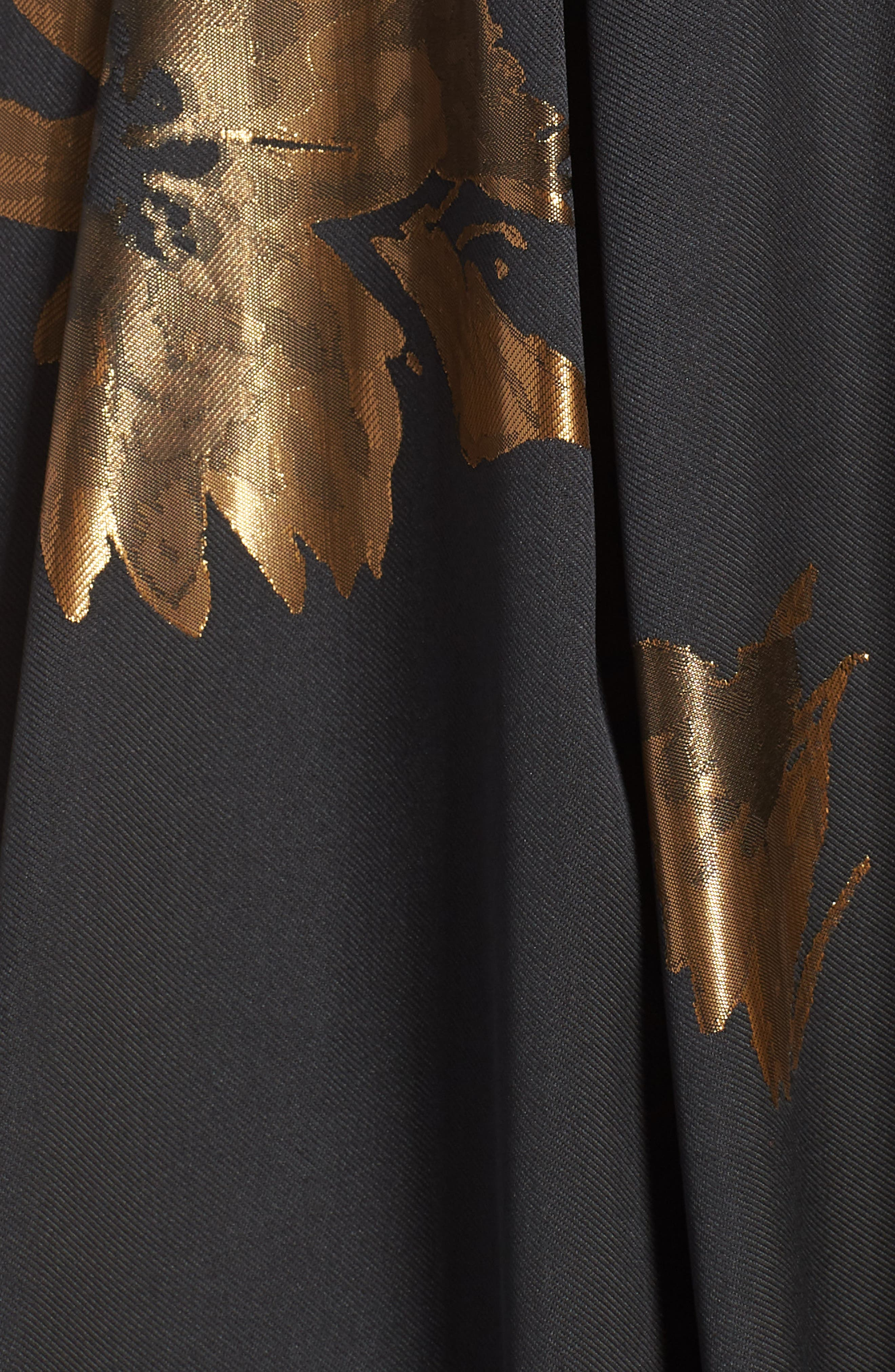 ELIZA J, Metallic Print Gown, Alternate thumbnail 6, color, 001
