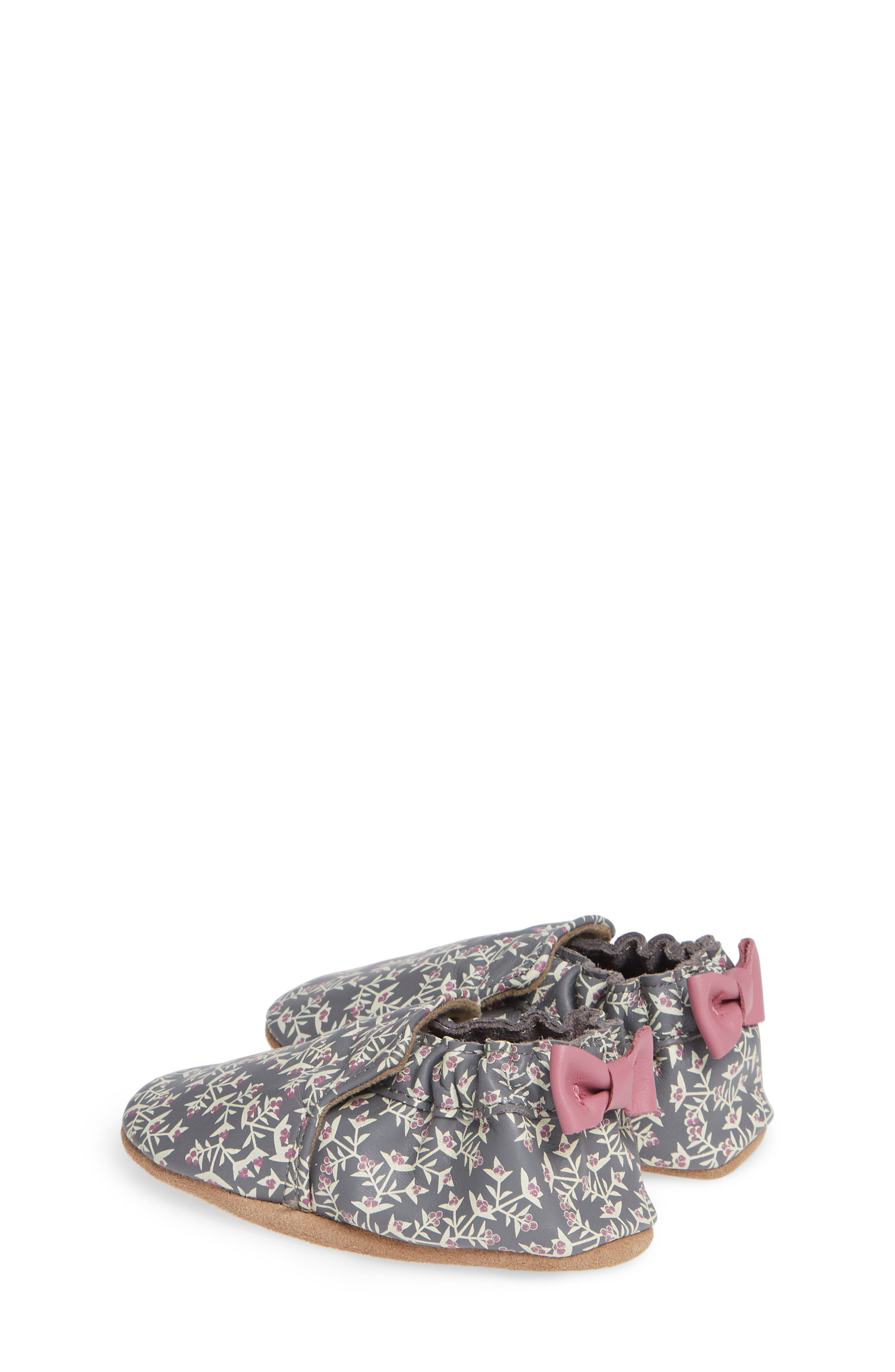 ROBEEZ<SUP>®</SUP>, Berry Beautiful Moccasin Crib Shoe, Alternate thumbnail 3, color, PATTERN