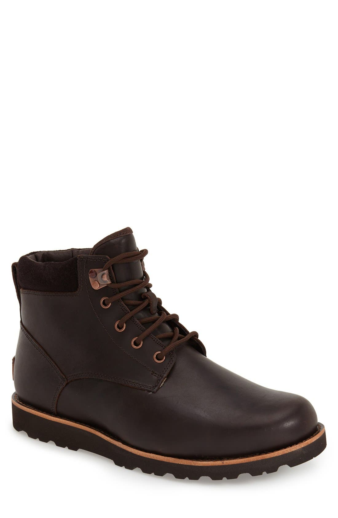 UGG<SUP>®</SUP>, Seton Waterproof Chukka Boot, Main thumbnail 1, color, STOUT
