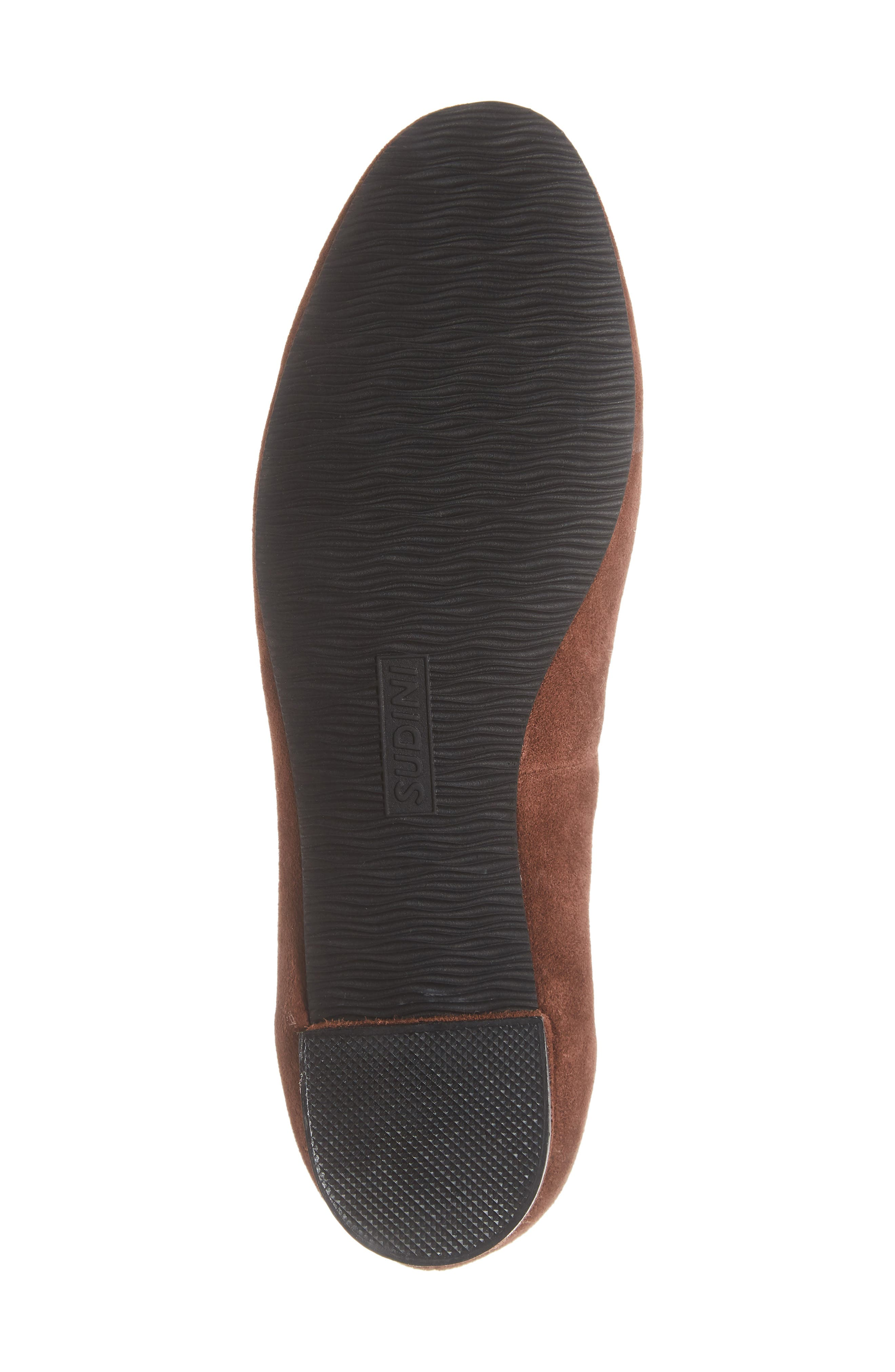 SUDINI, Lily Flat, Alternate thumbnail 6, color, BLACK SUEDE