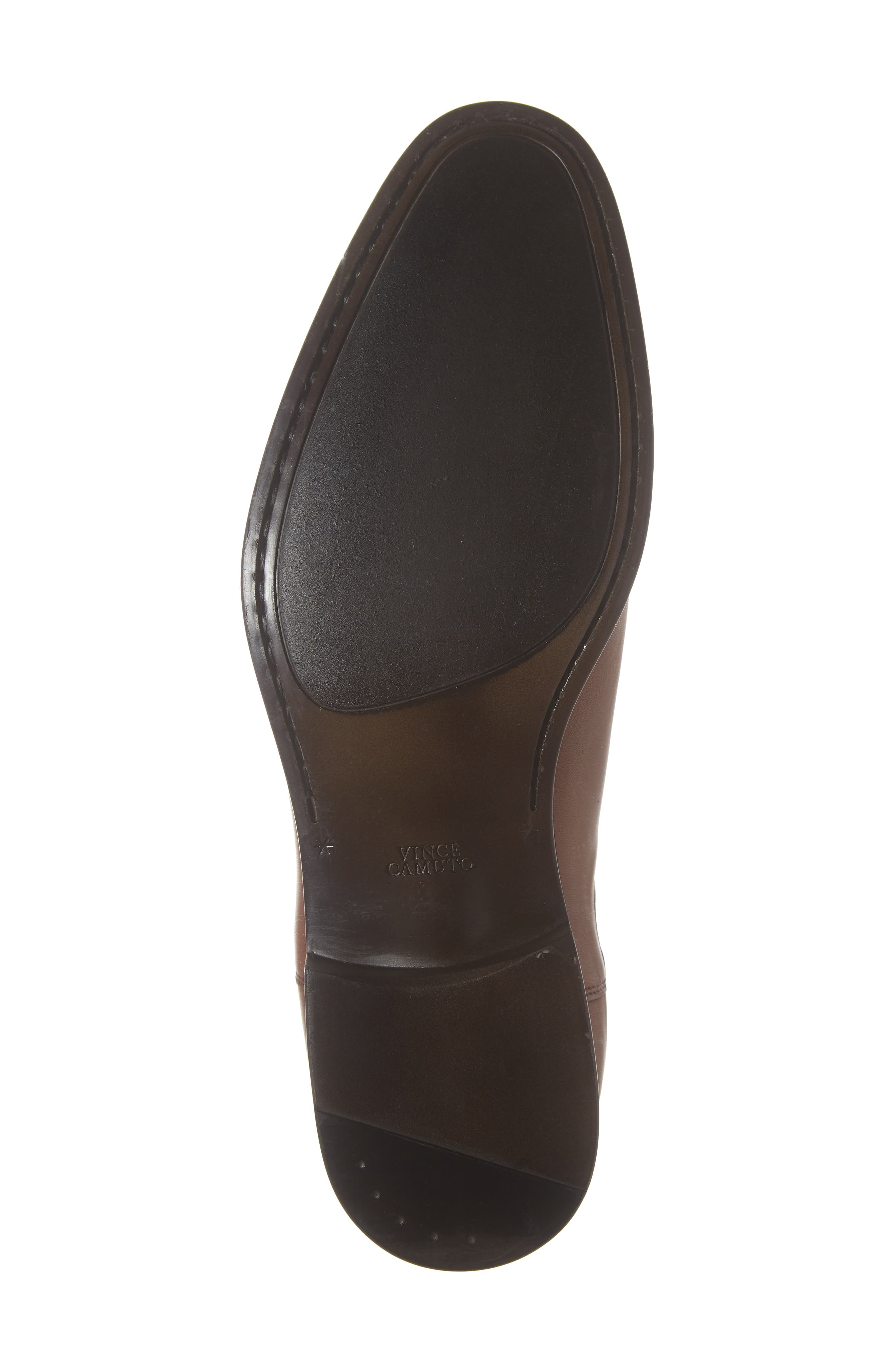 VINCE CAMUTO, Ivo Mid Chelsea Boot, Alternate thumbnail 6, color, COGNAC LEATHER