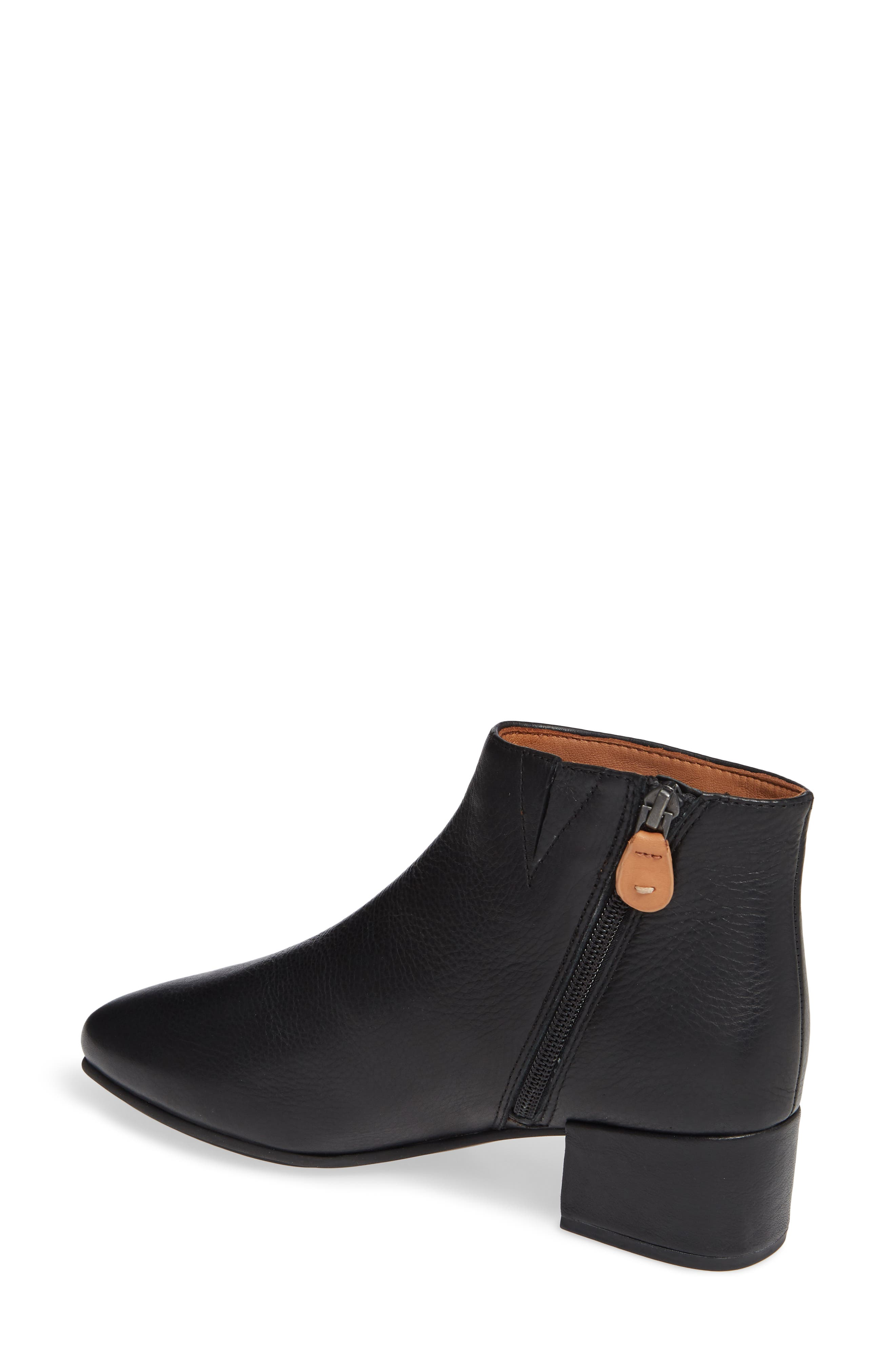 GENTLE SOULS BY KENNETH COLE, Ella Bootie, Alternate thumbnail 2, color, BLACK LEATHER