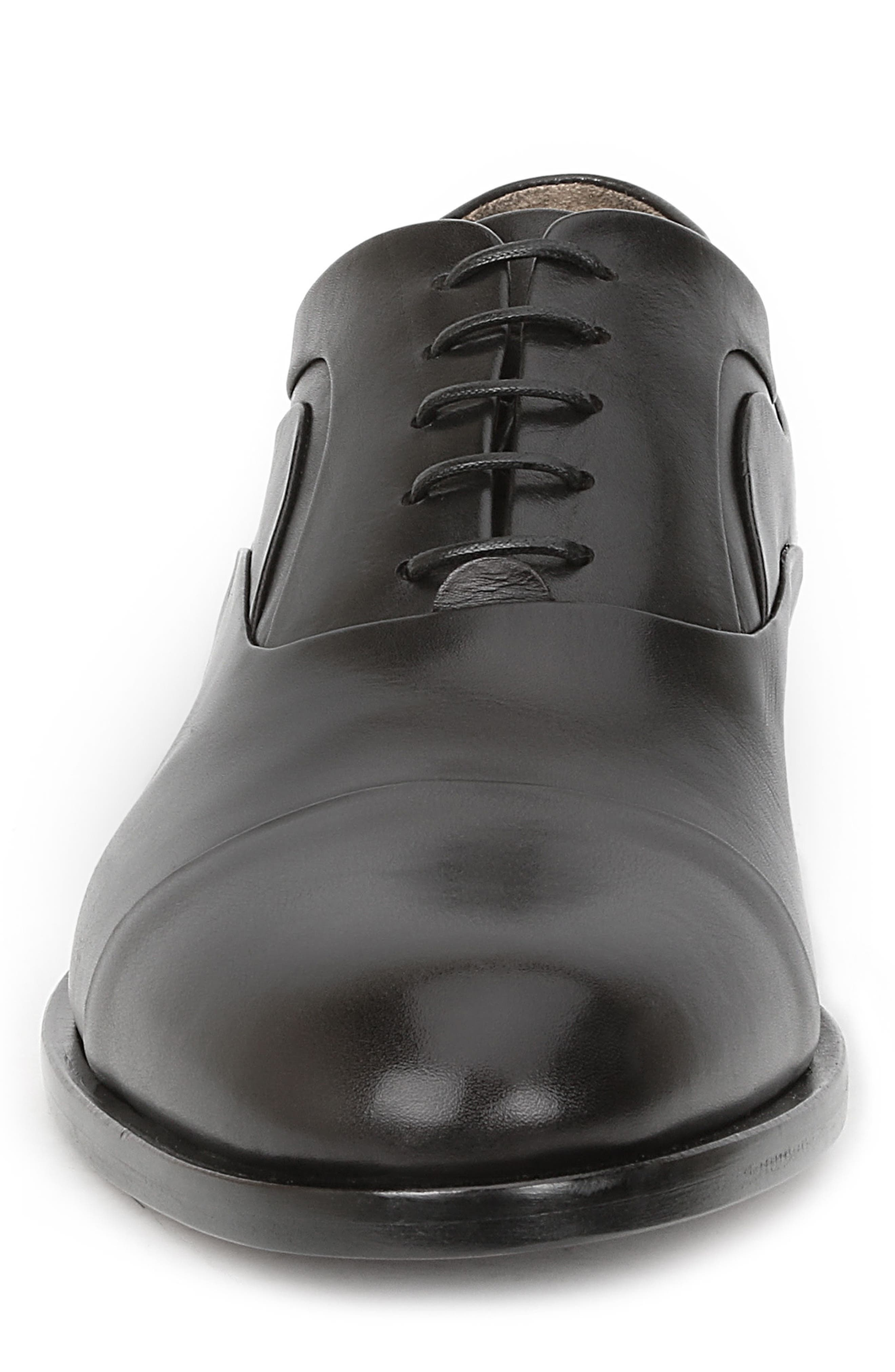 BRUNO MAGLI, Sassiolo Cap Toe Oxford, Alternate thumbnail 4, color, BLACK