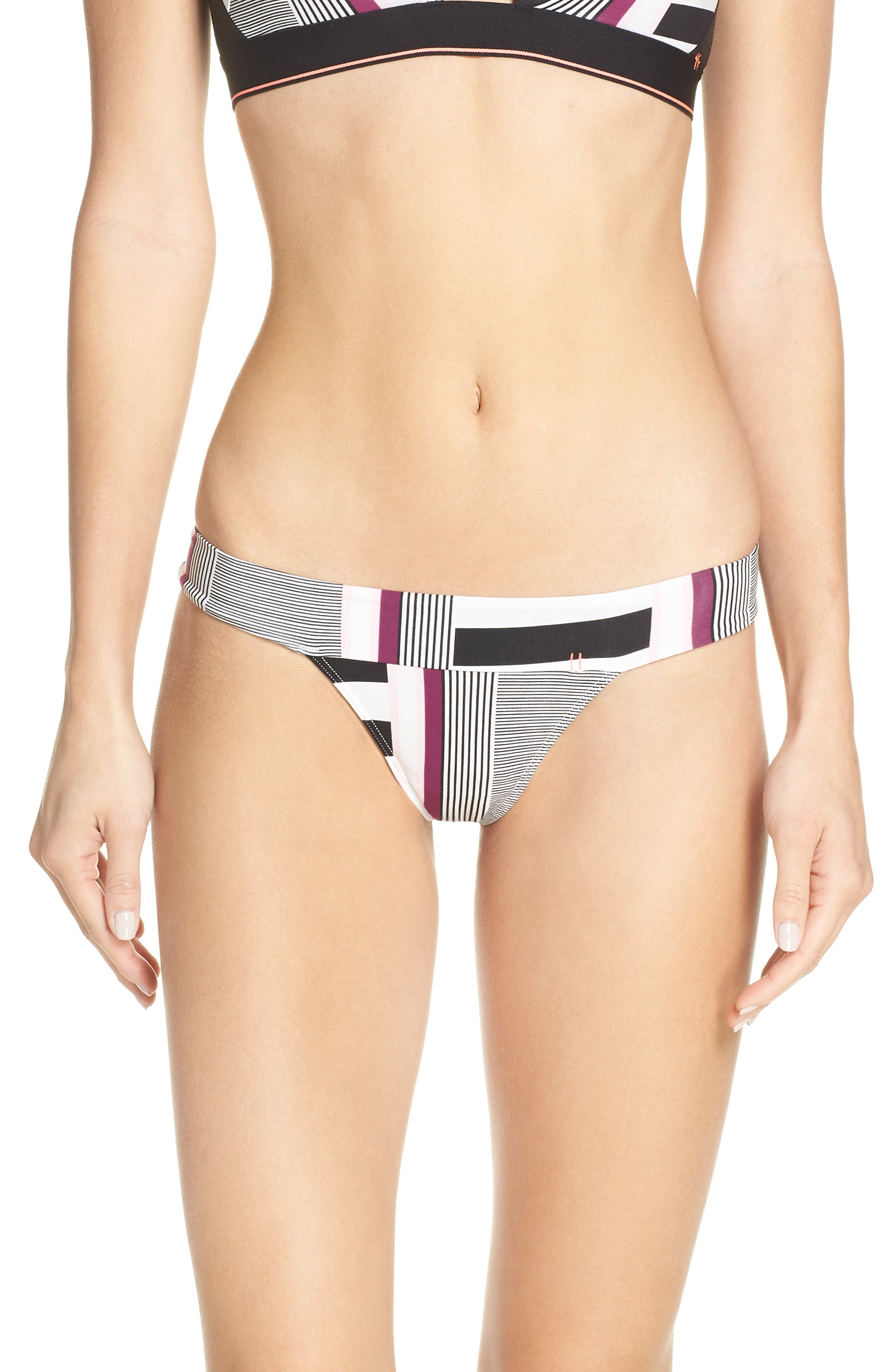 STANCE, Wide Side Thong, Main thumbnail 1, color, BLACK AND WHITE
