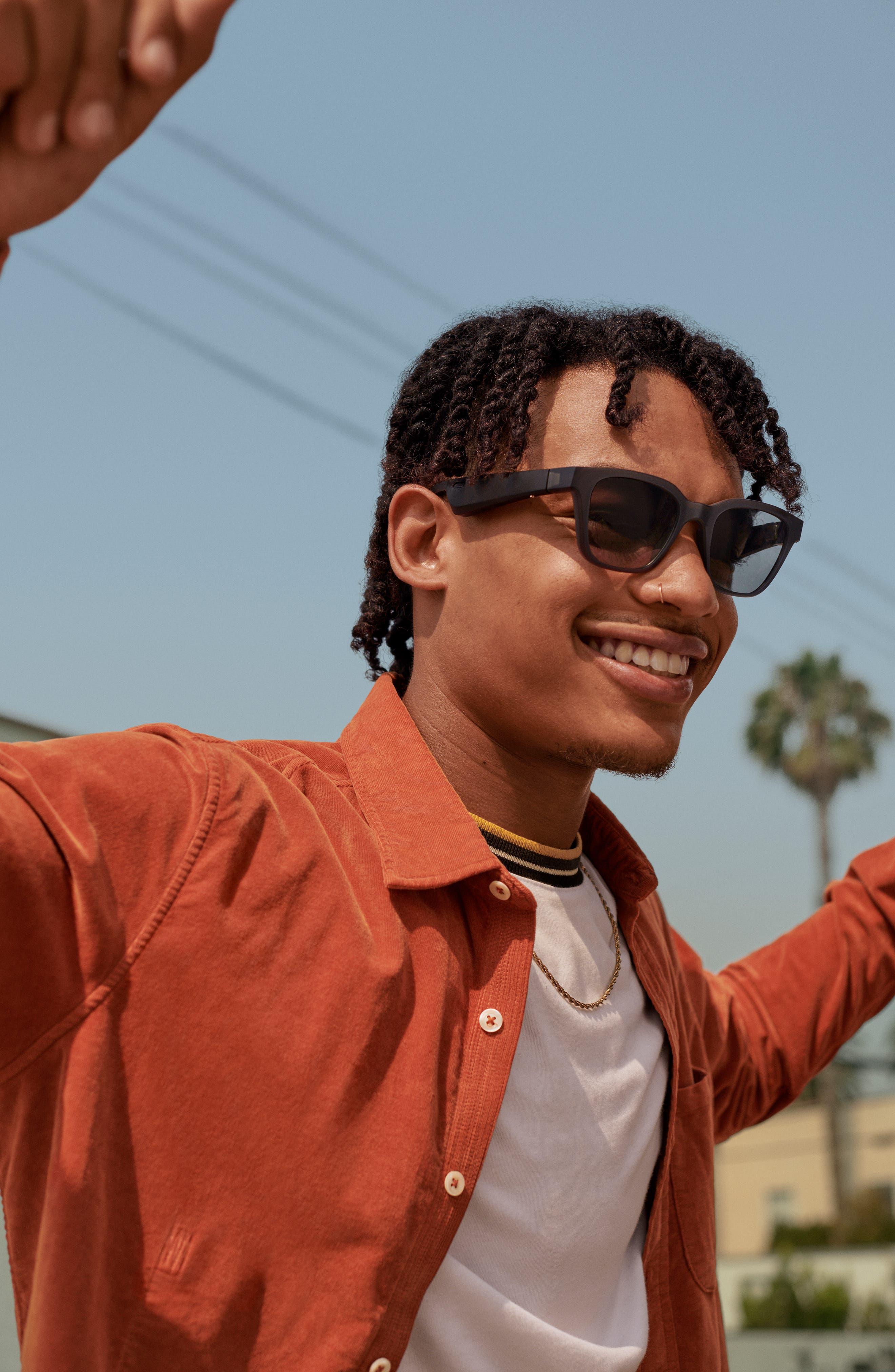 BOSE<SUP>®</SUP>, Frames Alto 52mm Audio Sunglasses, Alternate thumbnail 3, color, BLACK