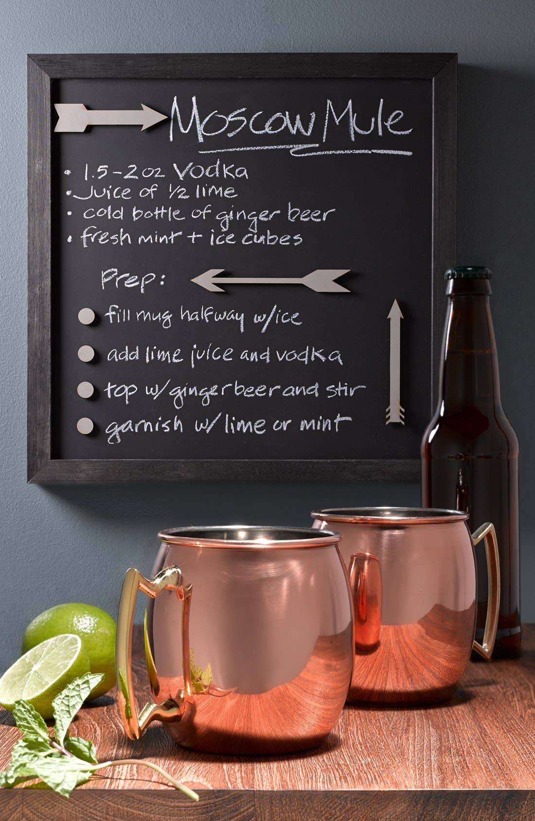 10 STRAWBERRY STREET, 'Moscow Mule' Copper Mug, Alternate thumbnail 4, color, 200