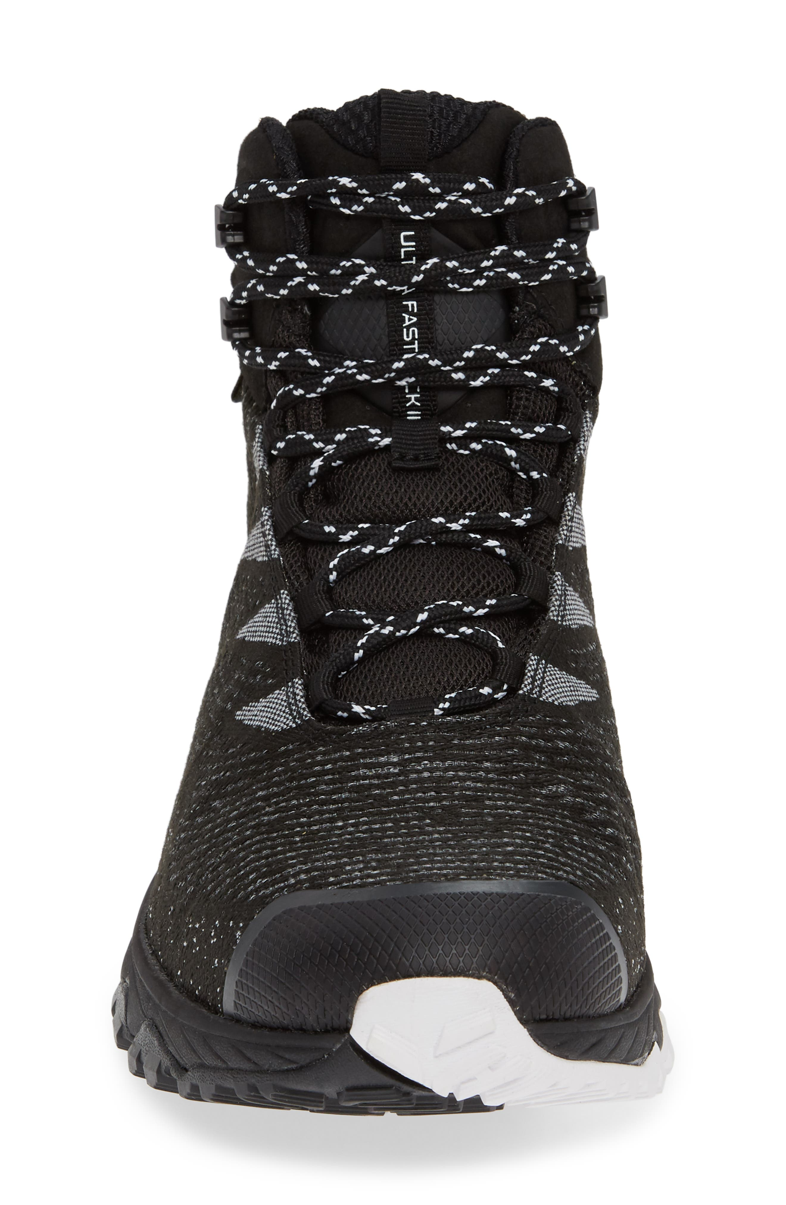 THE NORTH FACE, Ultra Fastpack III Mid Gore-Tex<sup>®</sup> Hiking Boot, Alternate thumbnail 4, color, BLACK/ WHITE