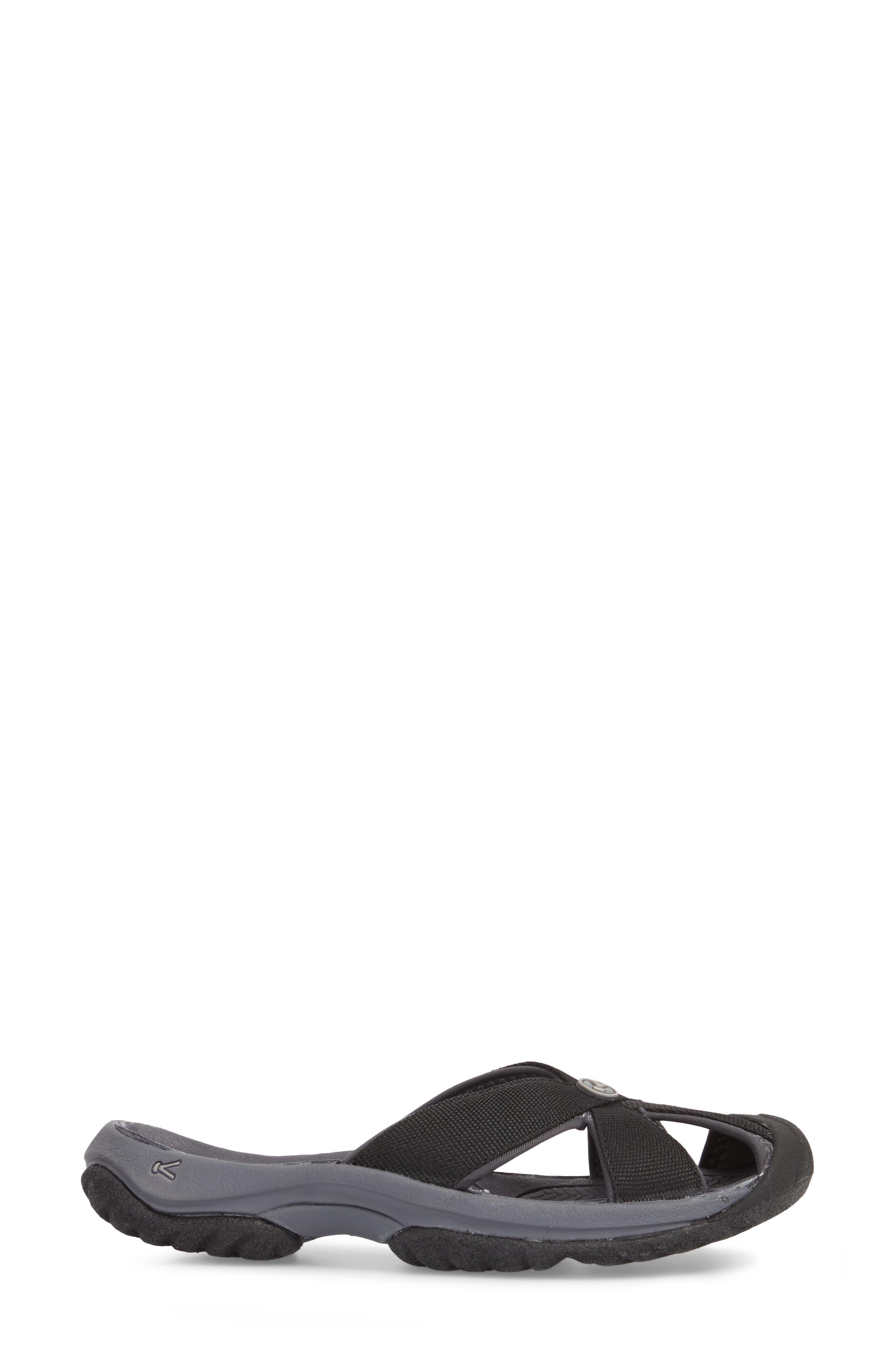 KEEN, 'Bali' Sandal, Alternate thumbnail 3, color, BLACK/ MAGNET