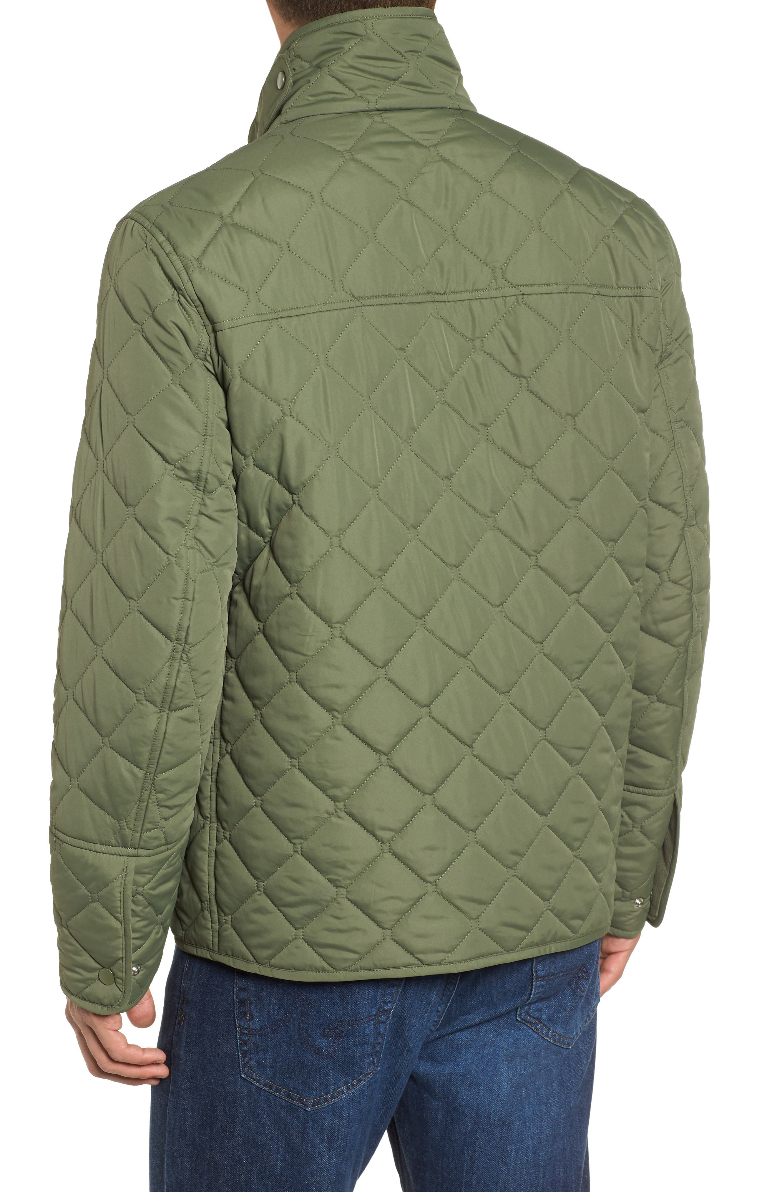 MARC NEW YORK, Canal Quilted Barn Jacket, Alternate thumbnail 2, color, OLIVE