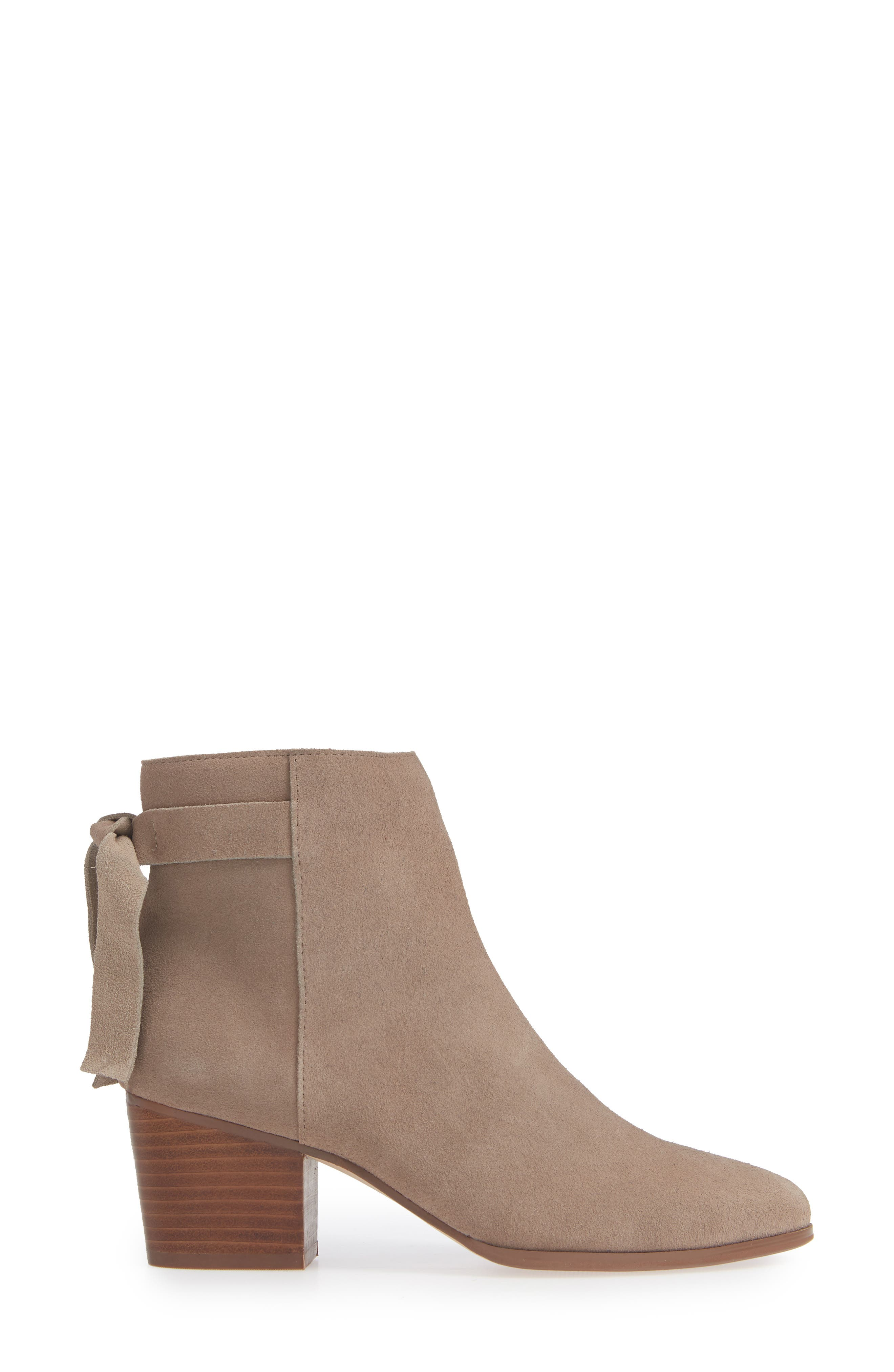 SOLE SOCIETY, Rhilynn Bootie, Alternate thumbnail 3, color, FALL TAUPE SUEDE