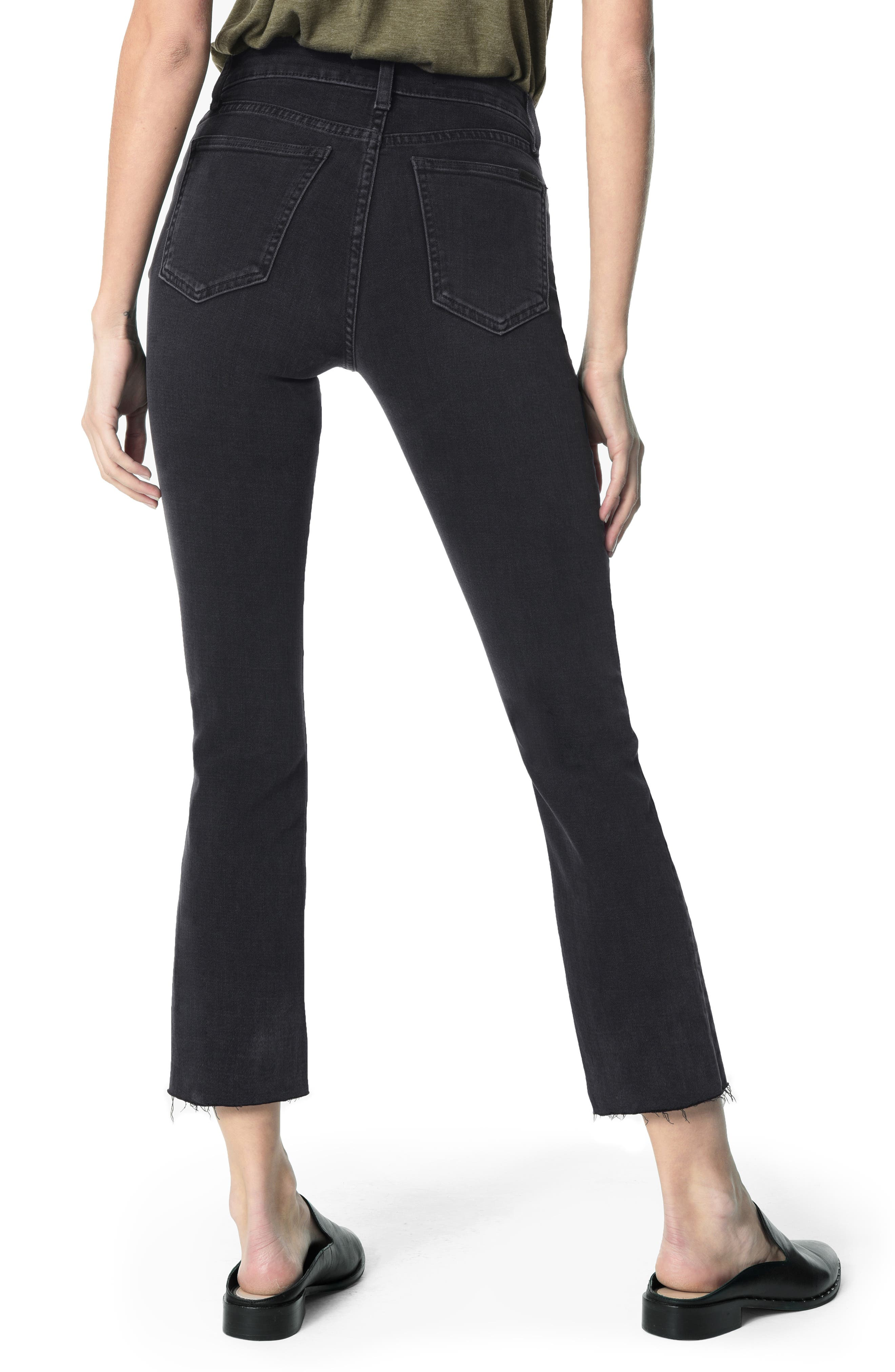 JOE'S, The Callie High Waist Crop Flare Jeans, Alternate thumbnail 2, color, 018