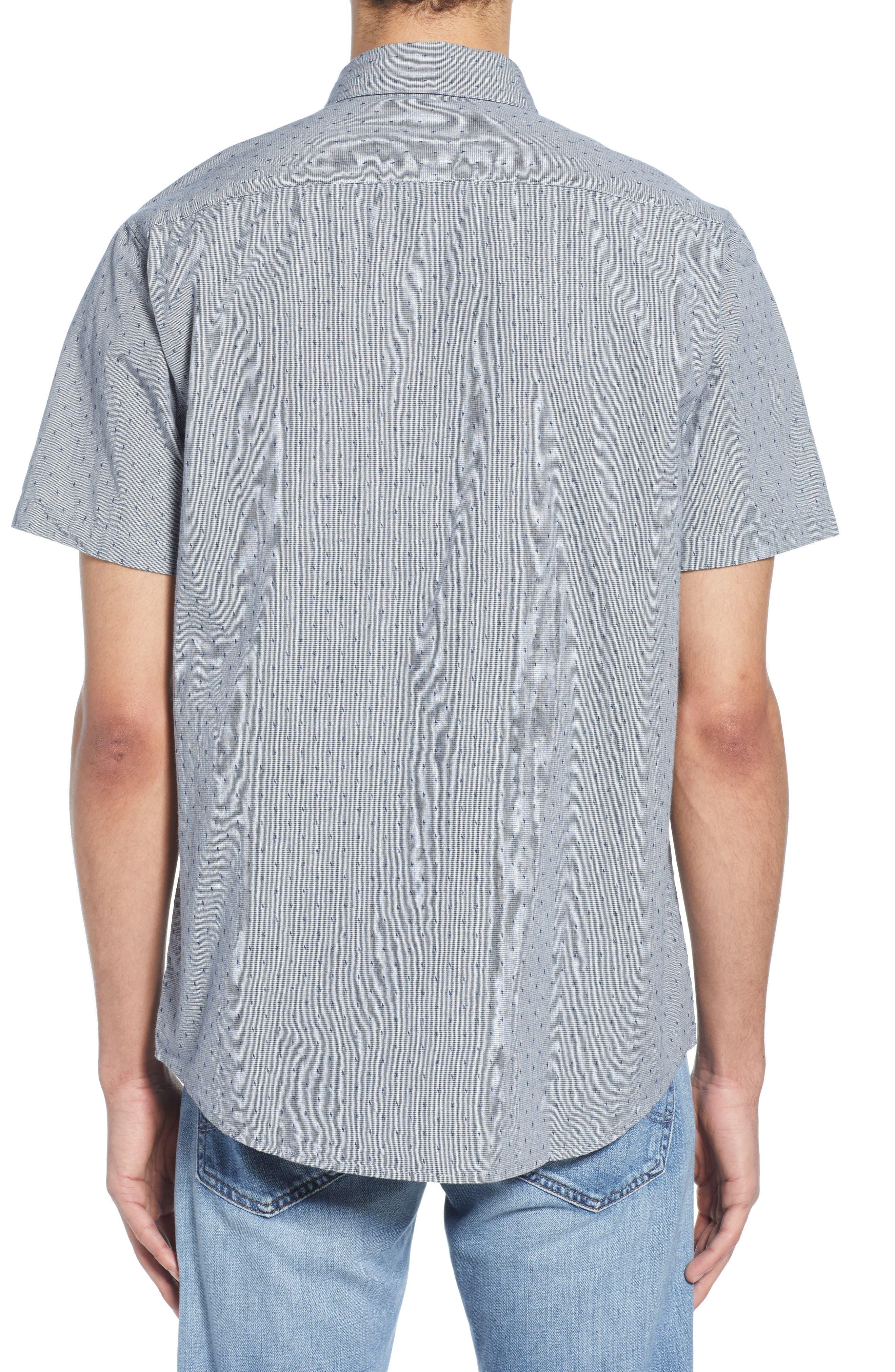RVCA, That'll Do Dobby Short Sleeve Sport Shirt, Alternate thumbnail 3, color, SEATTLE BLUE