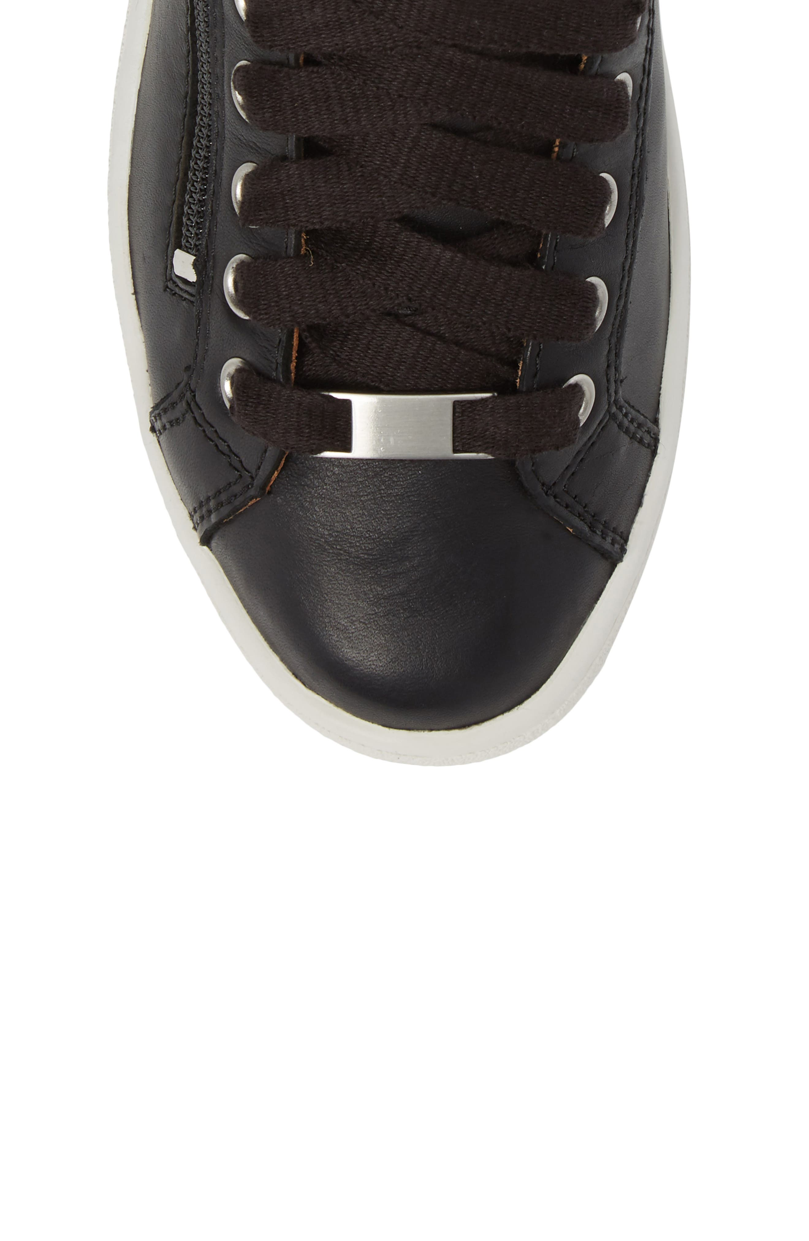 UGG<SUP>®</SUP>, UGG Olive High Top Sneaker, Alternate thumbnail 5, color, BLACK LEATHER