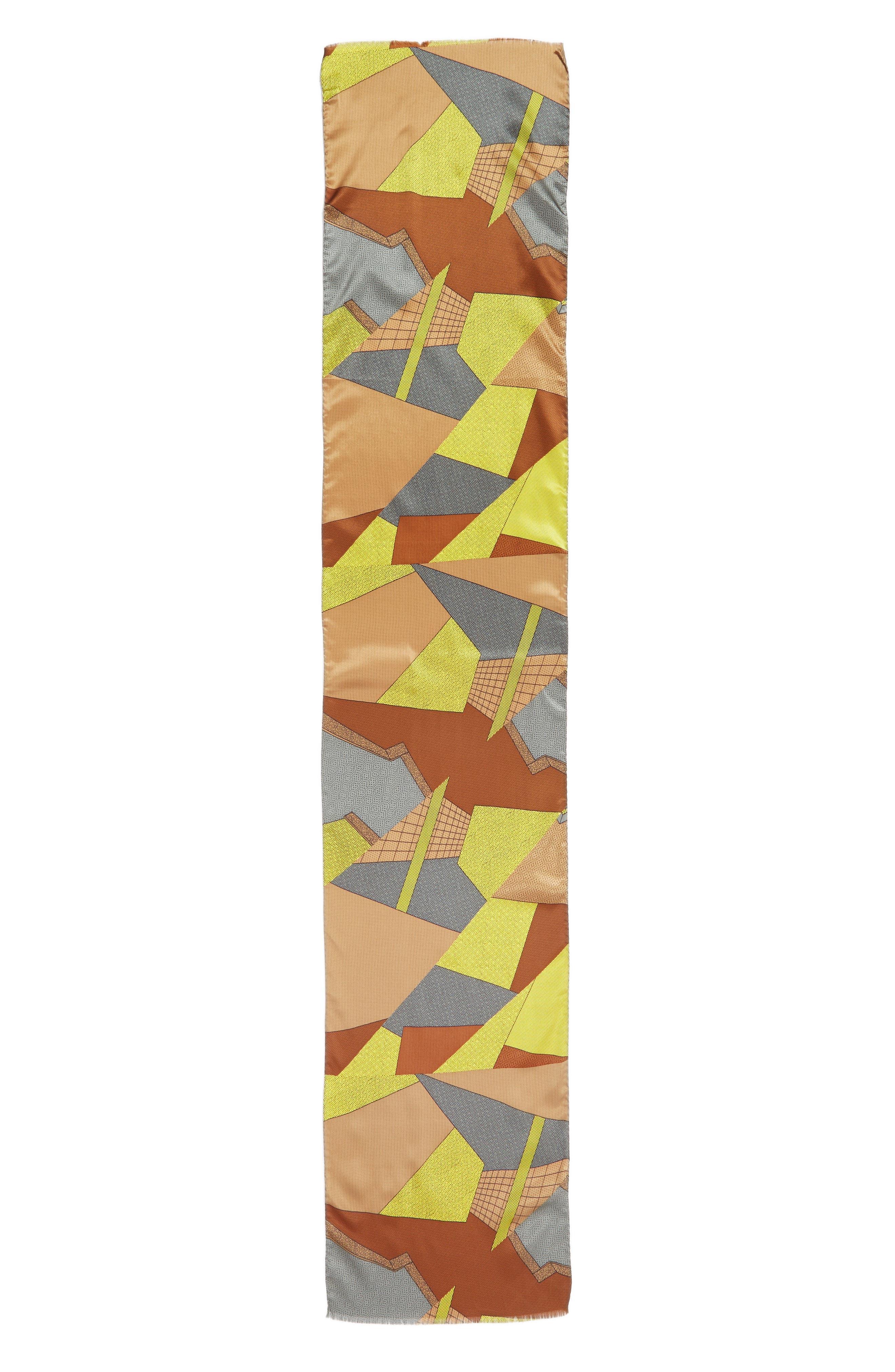 MEMPHIS GROUP, MEMPHIS Milano Print Silk Scarf, Alternate thumbnail 2, color, 700
