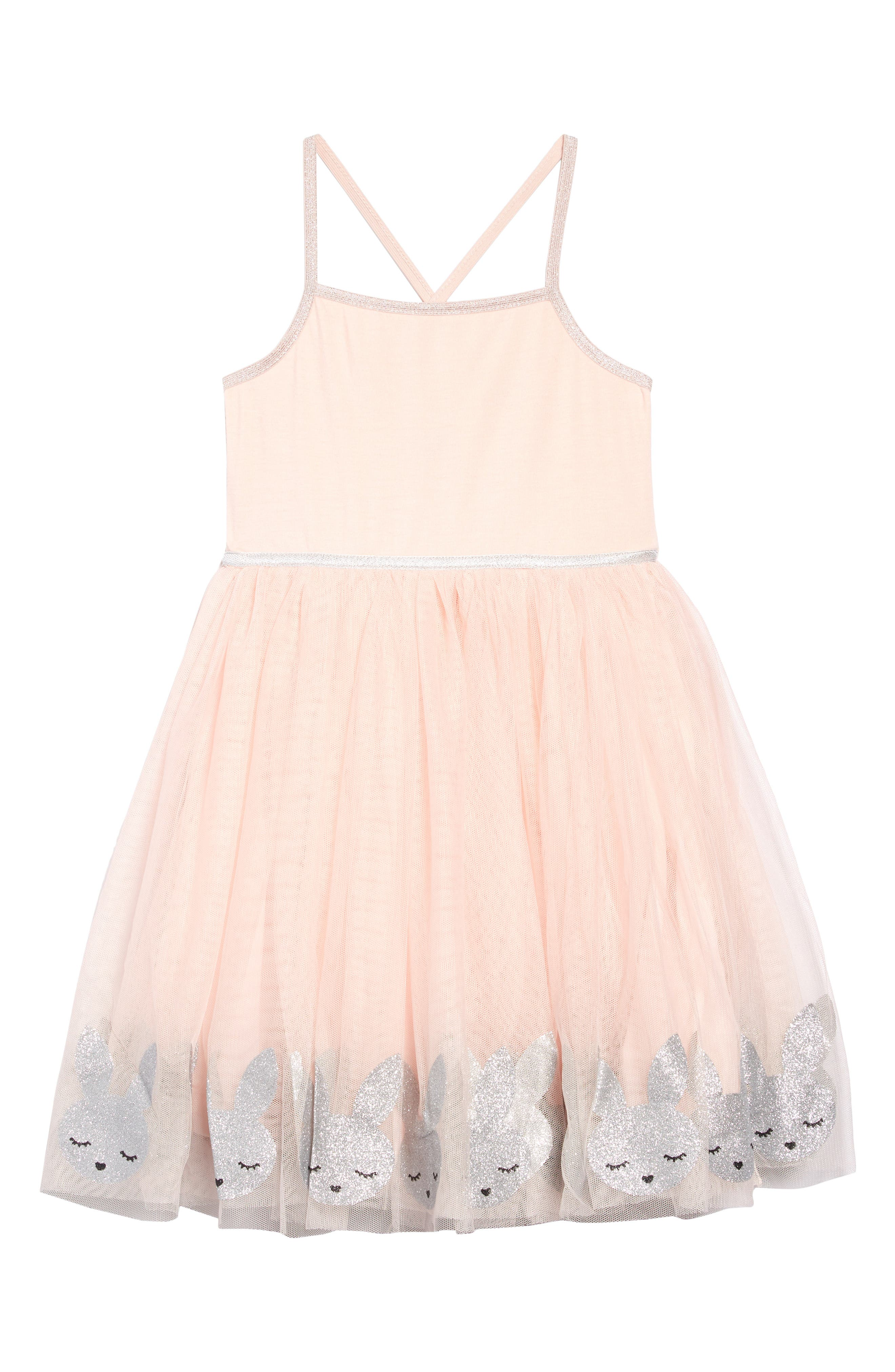 Toddler Girls Zunie Border Bunny Fit  Flare Tulle Dress Size 3T  Pink