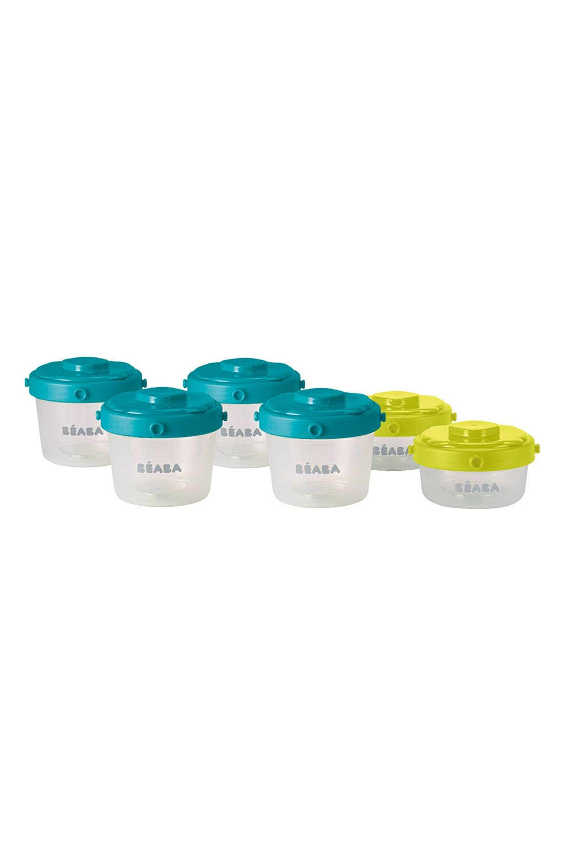 BÉABA Clip Portion Containers, Main, color, PEACOCK