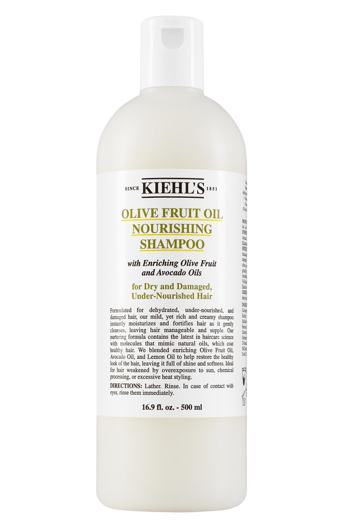 KIEHL'S SINCE 1851, Olive Fruit Oil Nourishing Shampoo, Alternate thumbnail 3, color, NO COLOR