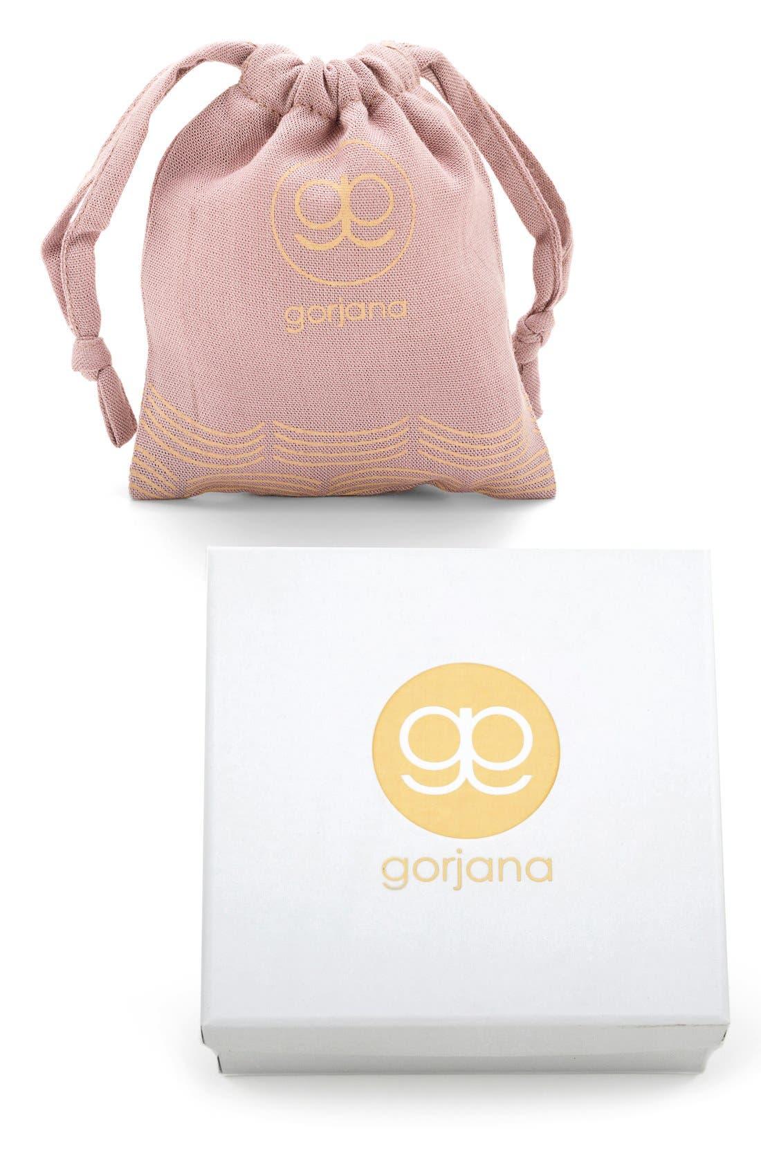 GORJANA, Taner Mini Stud Earrings, Alternate thumbnail 4, color, ROSE GOLD