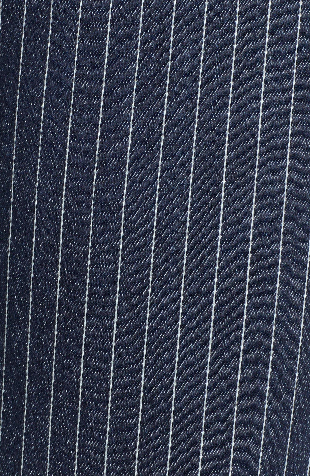 WIT & WISDOM, Ab-Solution Stripe High Waist Crop Skinny Jeans, Alternate thumbnail 6, color, INDIGO