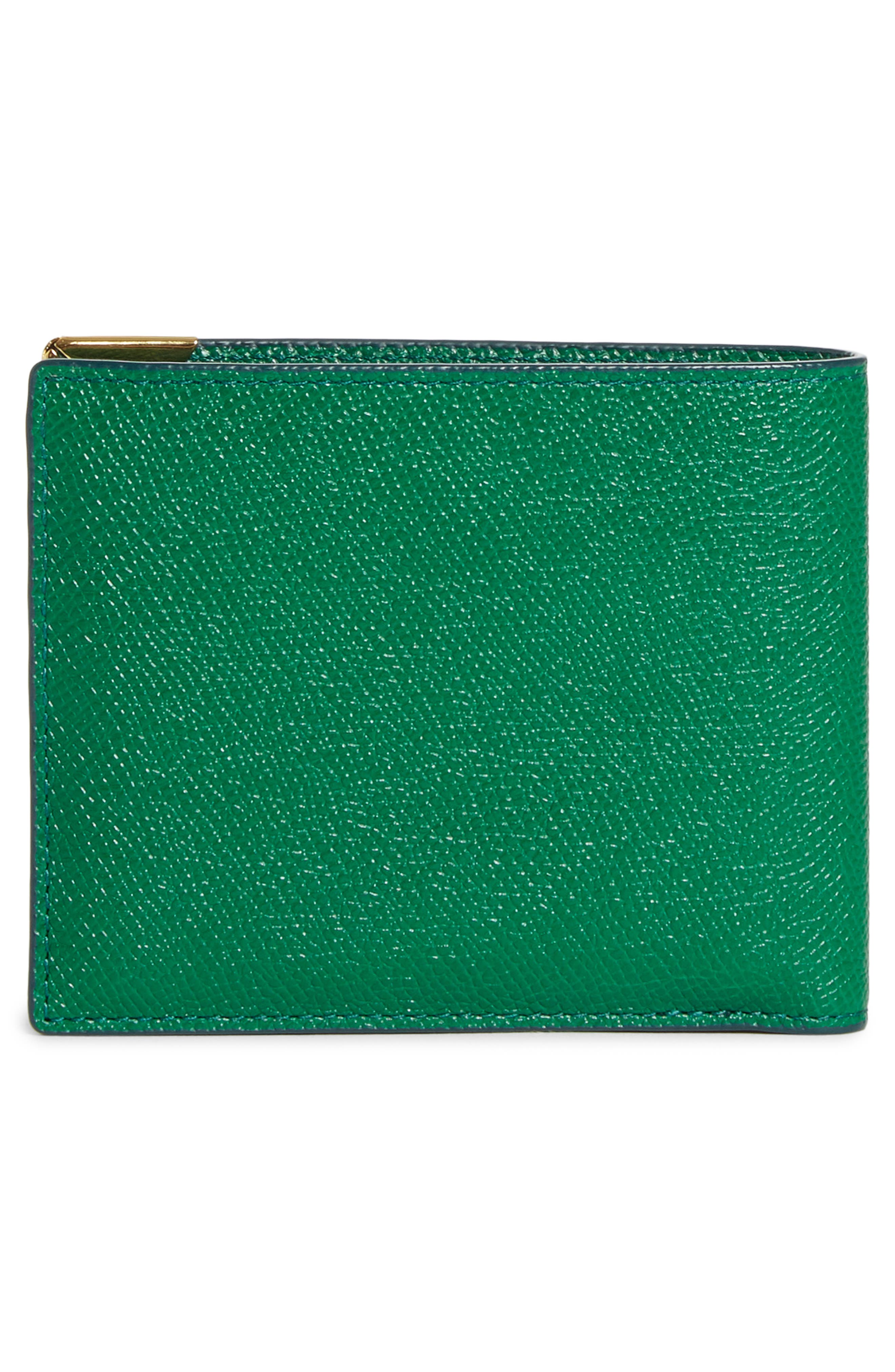 MCM, Small RGB Coin Wallet, Alternate thumbnail 3, color, GREEN