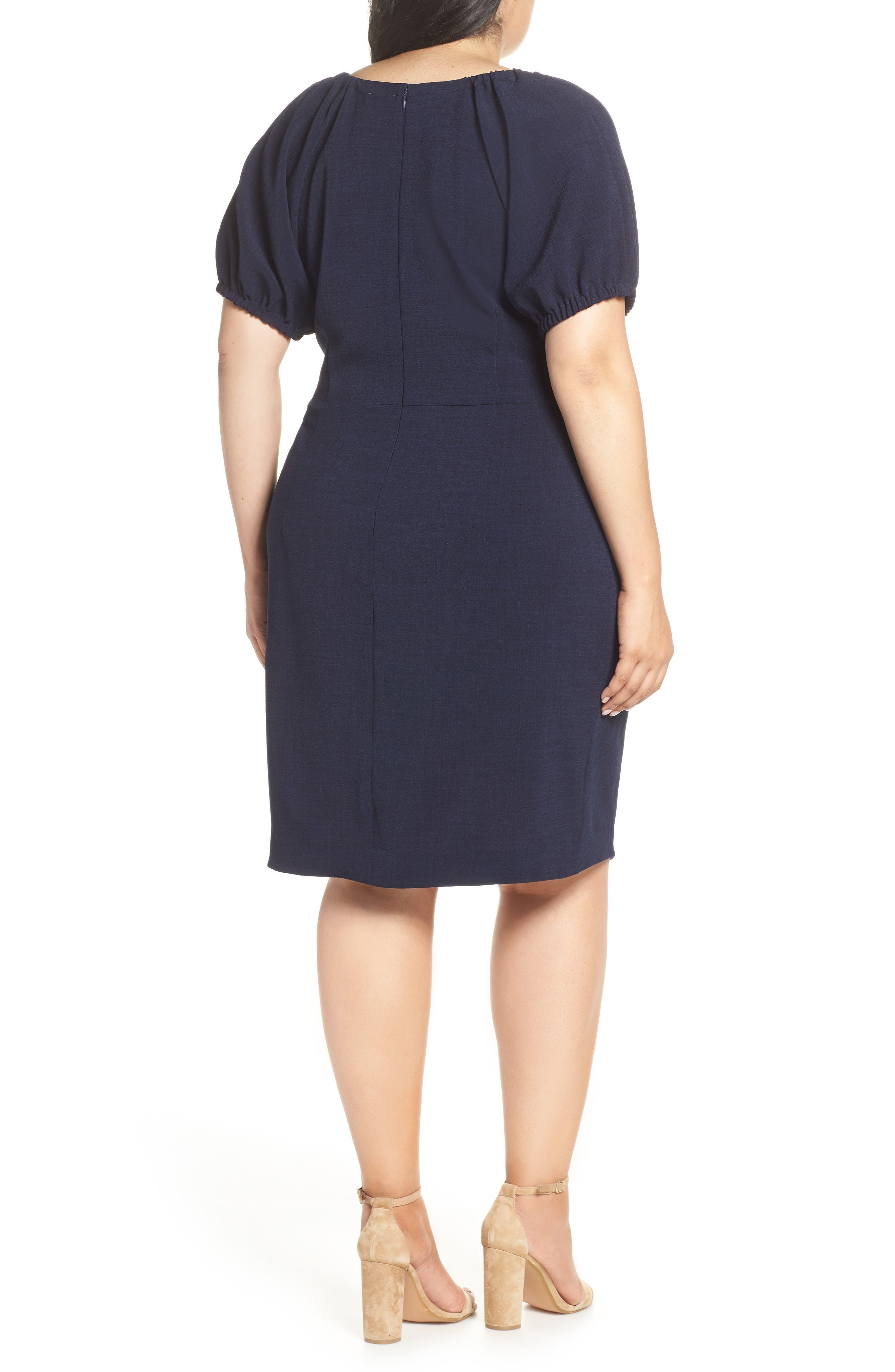 CHELSEA28, Ruffle Front Sheath Dress, Alternate thumbnail 2, color, 410