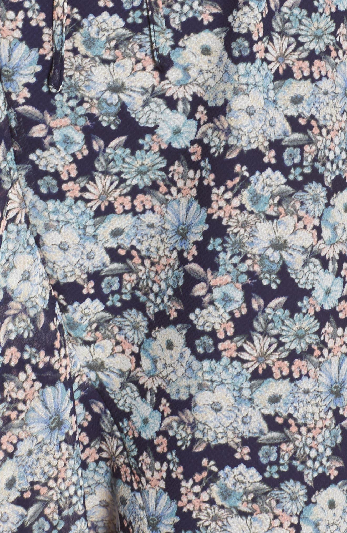 19 COOPER, Asymmetrical Ruffle Hem Dress, Alternate thumbnail 6, color, 410