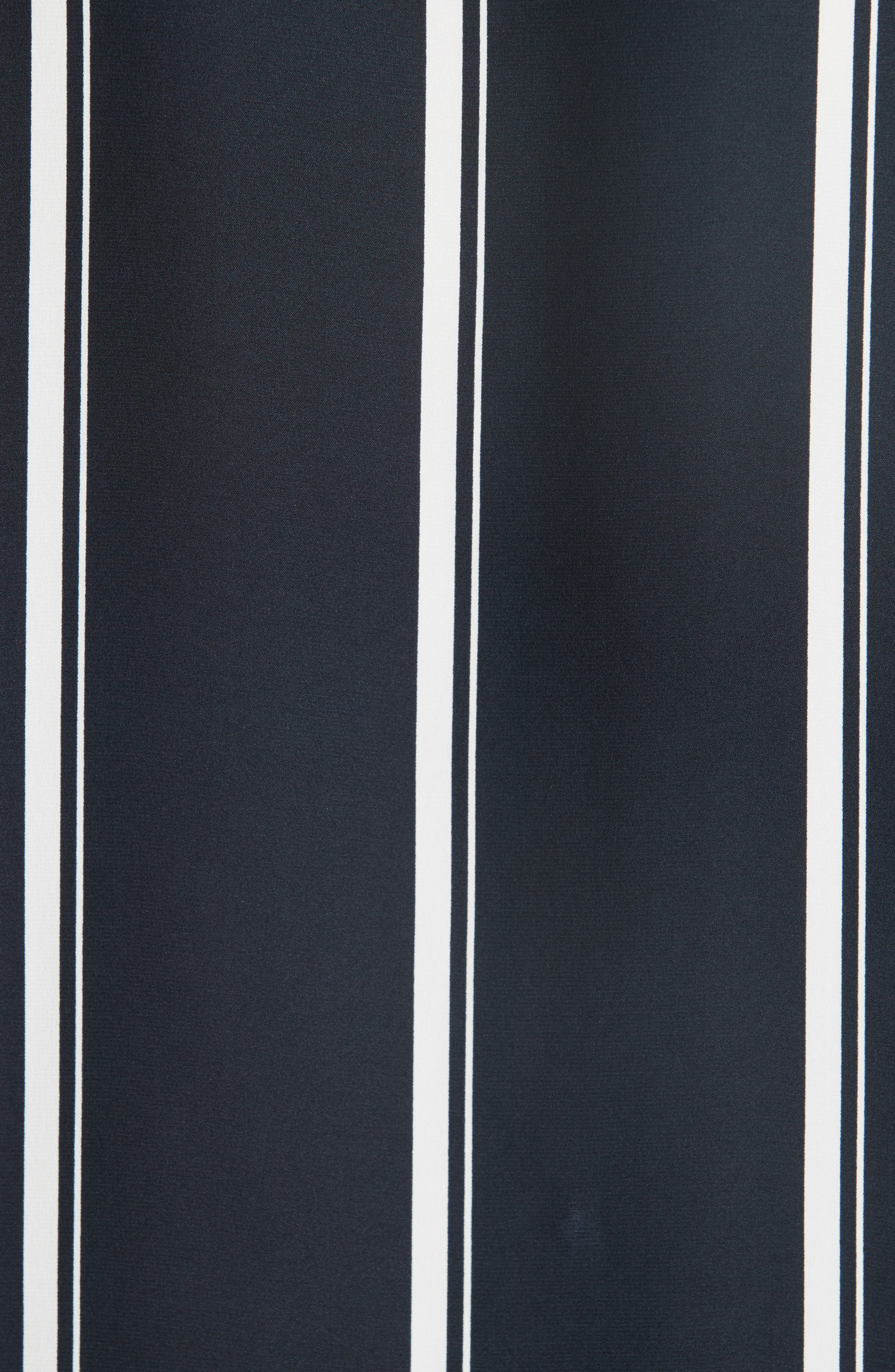 RAG & BONE, Debbie Stripe Silk Blouse, Alternate thumbnail 5, color, NAVY STRIPE