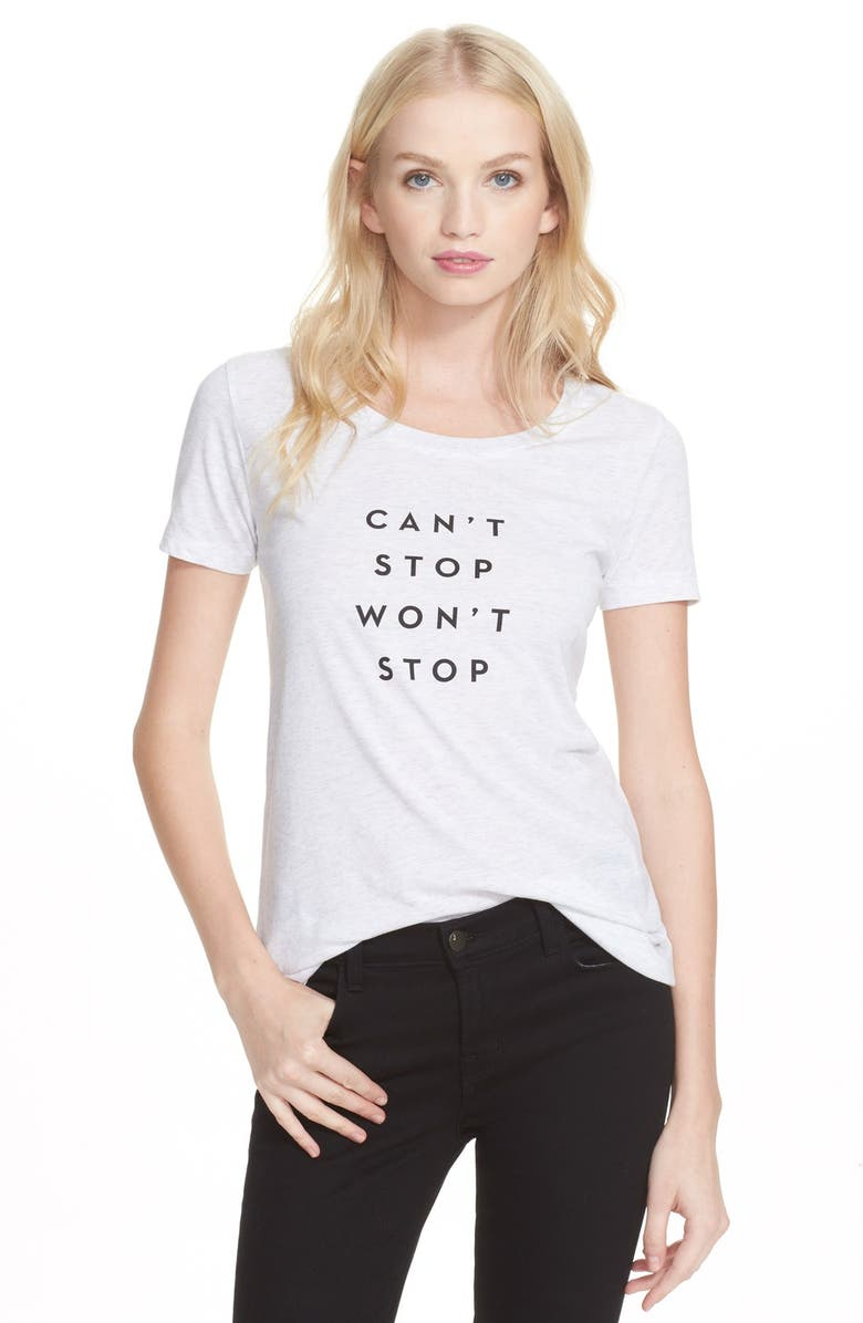 09e20d88d Milly 'Can't Stop Won't Stop' Graphic Tee | Nordstrom