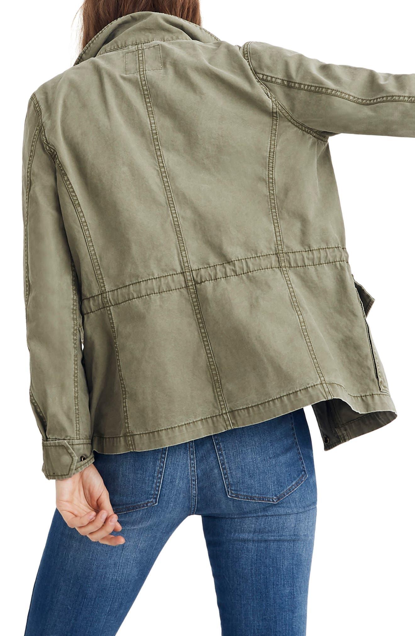 MADEWELL, Surplus Cotton Jacket, Alternate thumbnail 4, color, DESERT OLIVE