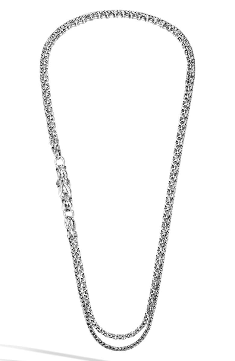 John Hardy Accessories ASLI CLASSIC CHAIN DOUBLE ROW NECKLACE
