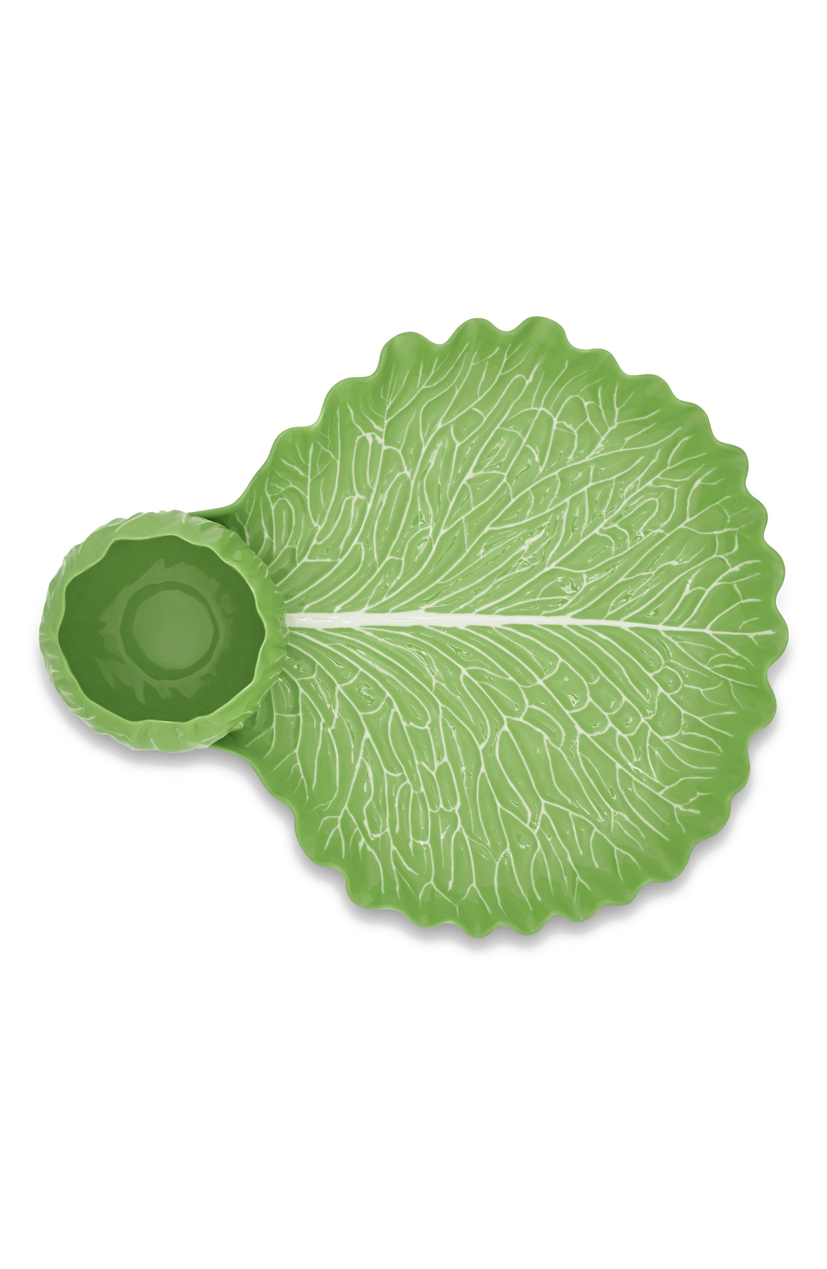 TORY BURCH Lettuce Ware Crudite Dish, Main, color, 308