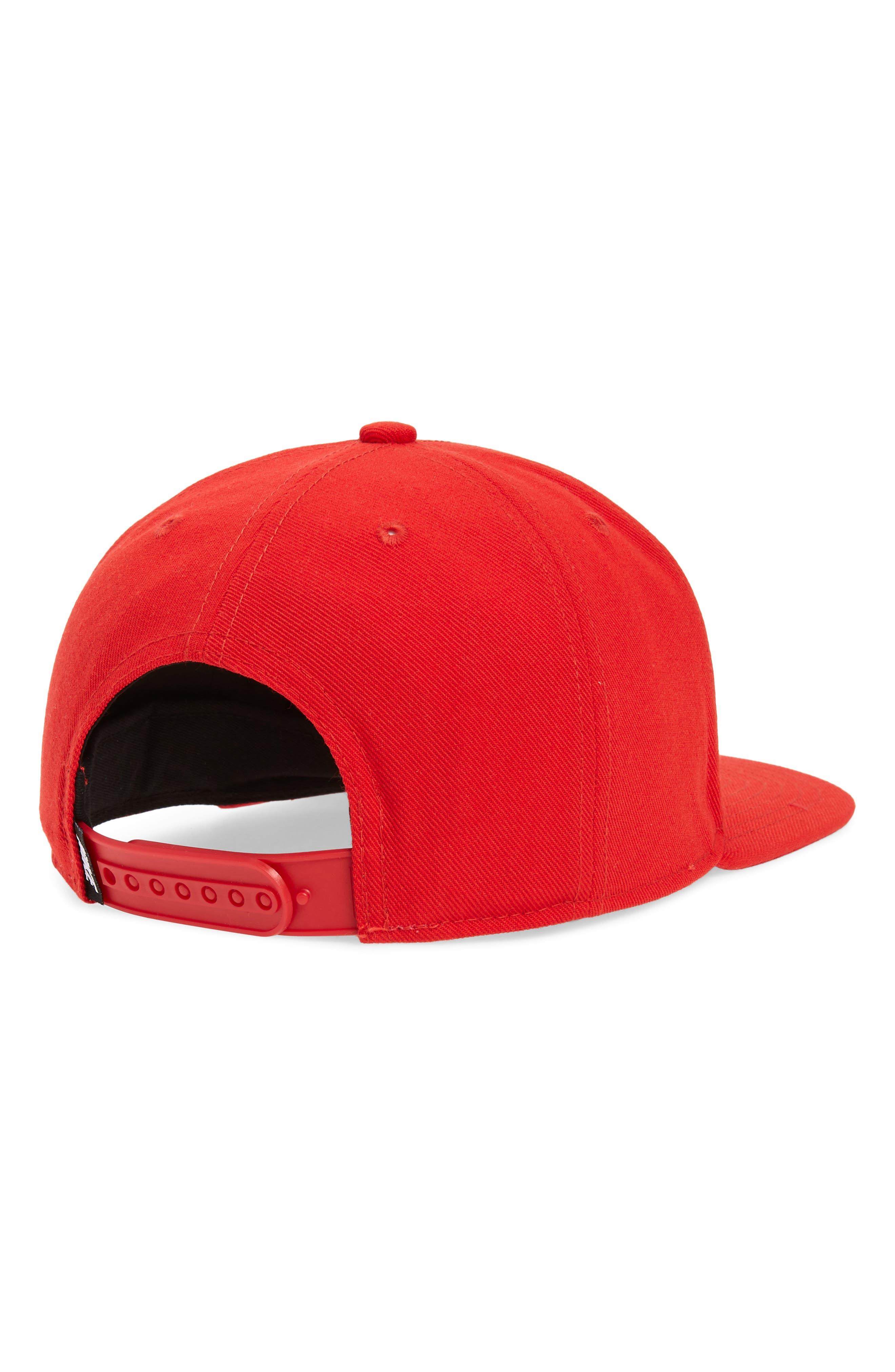 NIKE, Air Pro Snapback Baseball Cap, Alternate thumbnail 2, color, UNIVERSITY RED