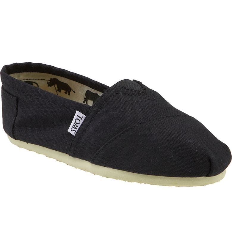 Toms 'Classic - Galapagos' Slip-On (Women) In Black Mono